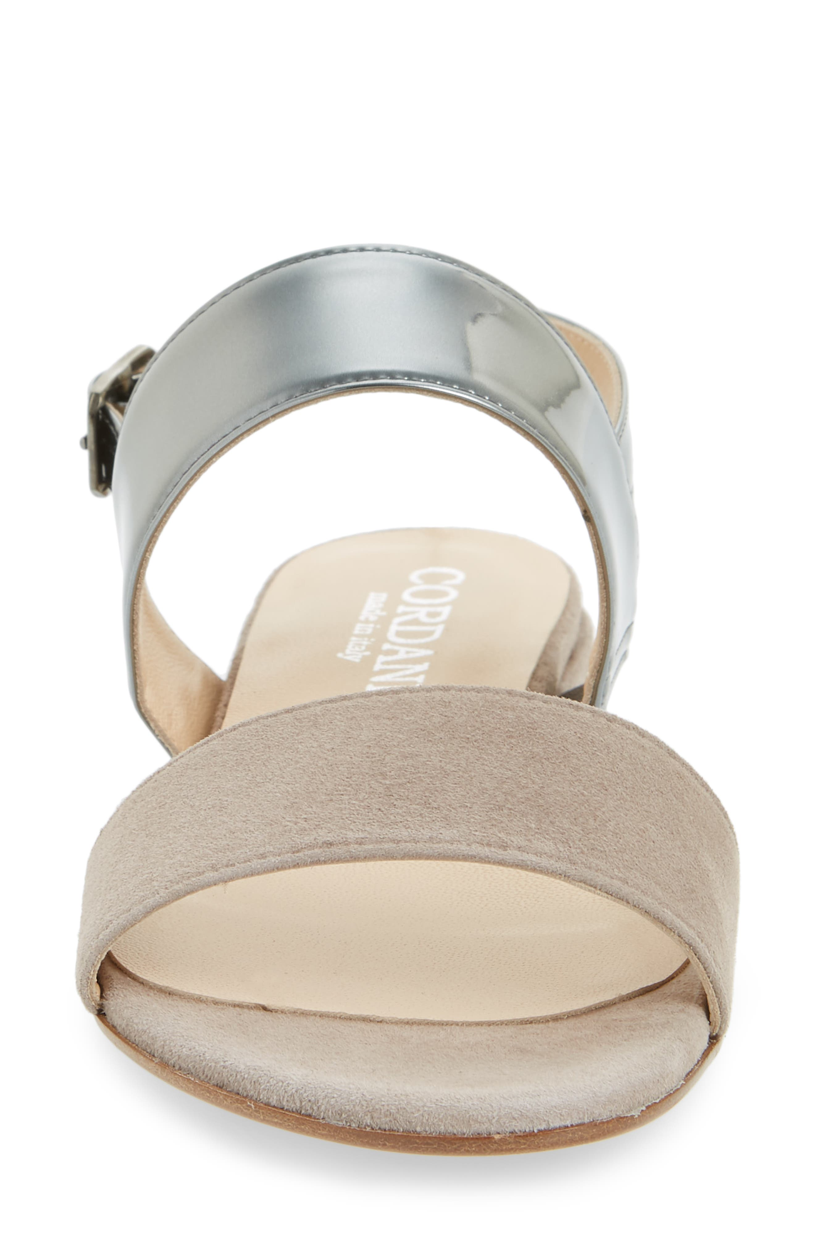 Prudence Sandal,                             Alternate thumbnail 4, color,                             GREY SUEDE