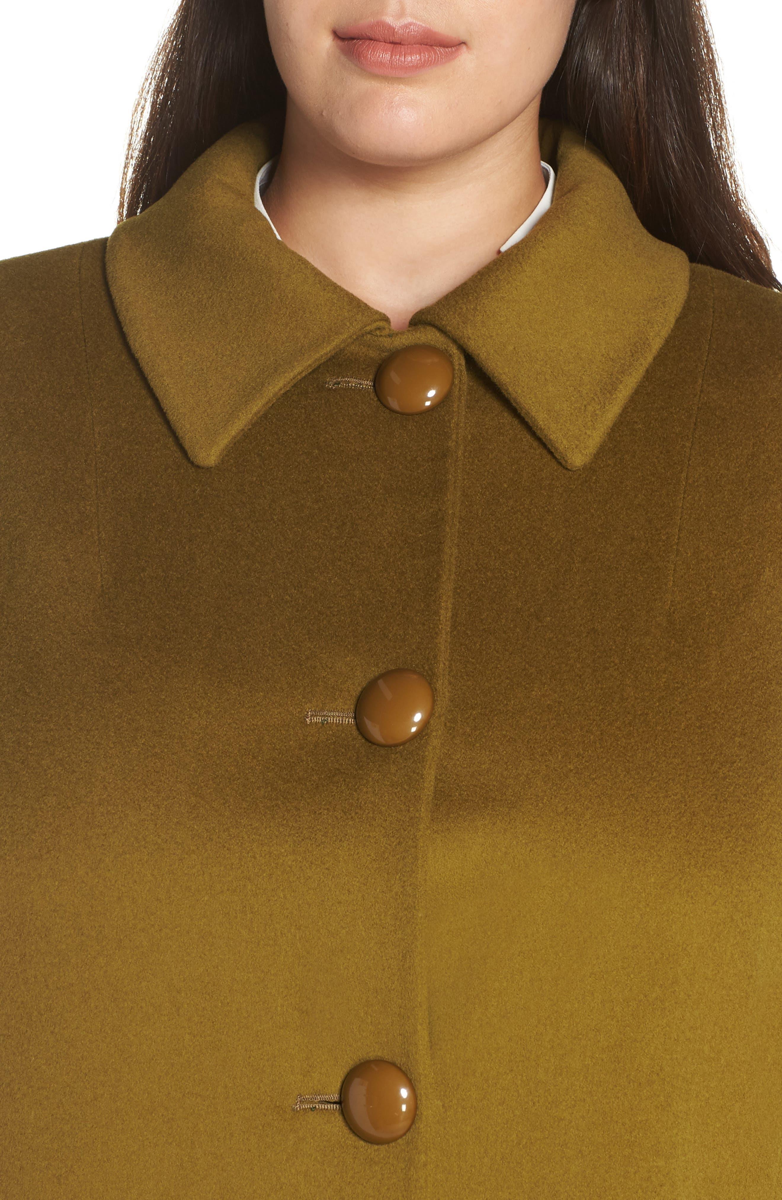 FLEURETTE,                             Loro Piana Wool Car Coat,                             Alternate thumbnail 4, color,                             305