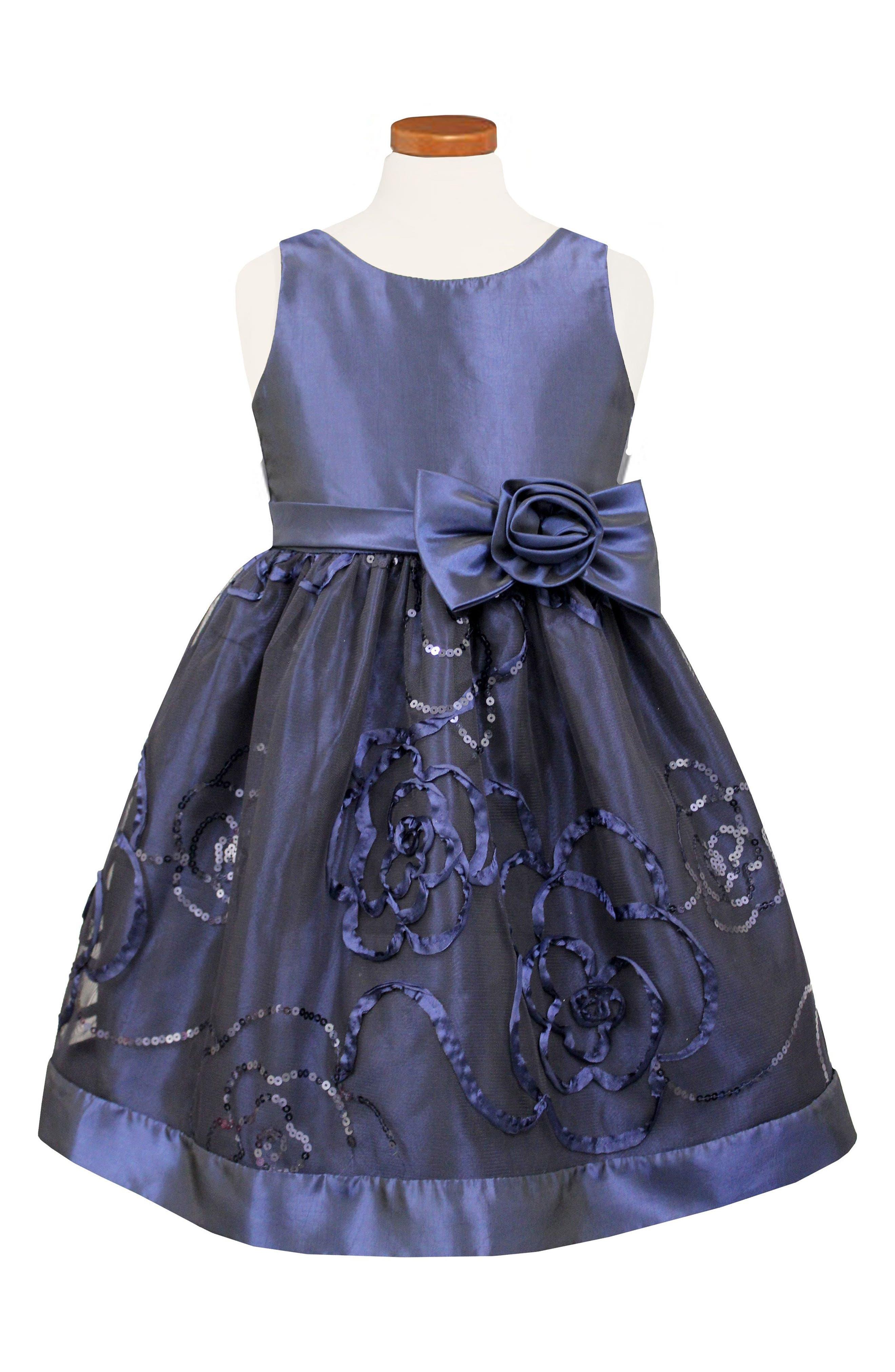Sequin Party Dress,                         Main,                         color, 400