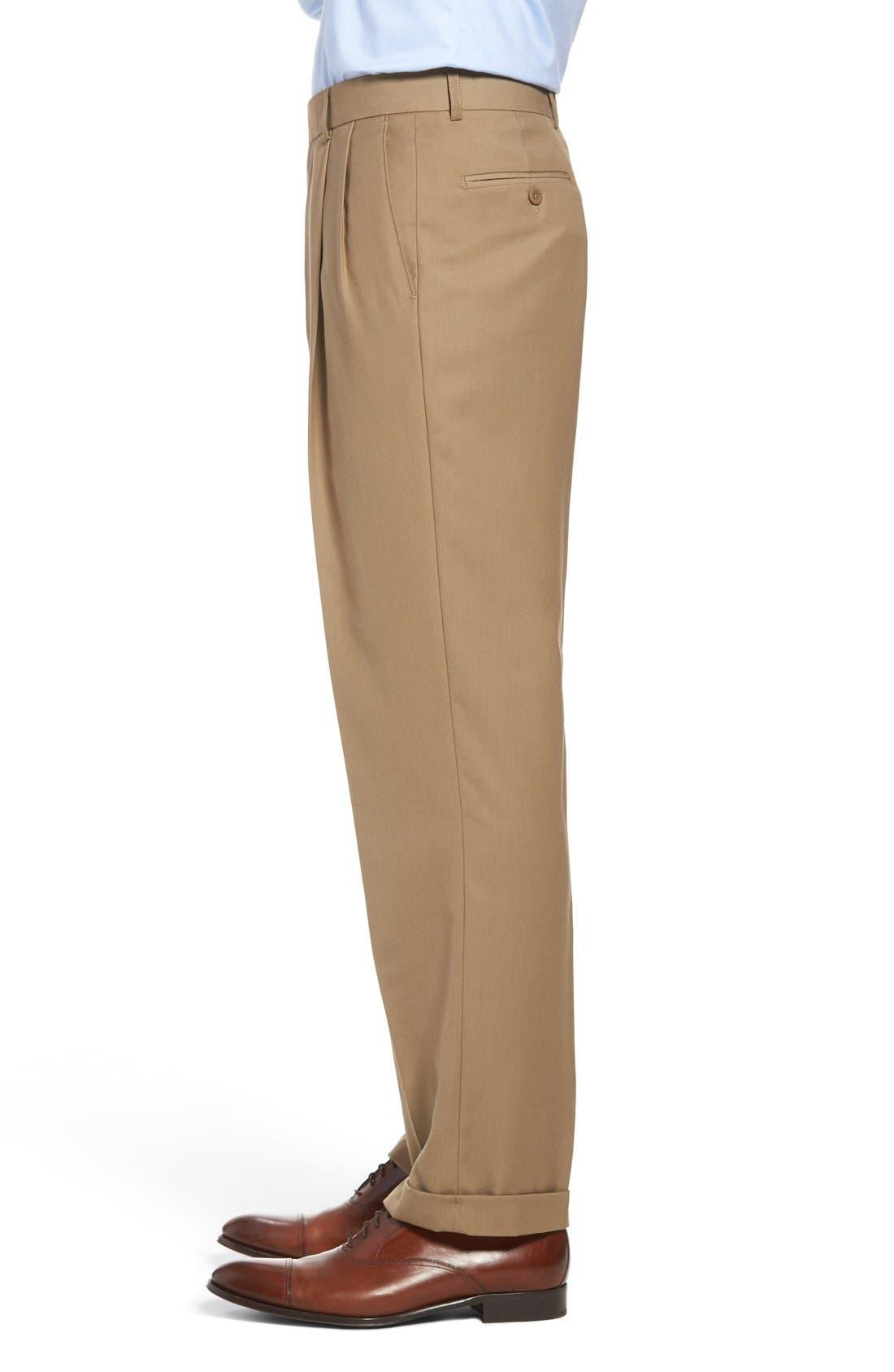 Pleated Microfiber Dress Pants,                             Alternate thumbnail 16, color,