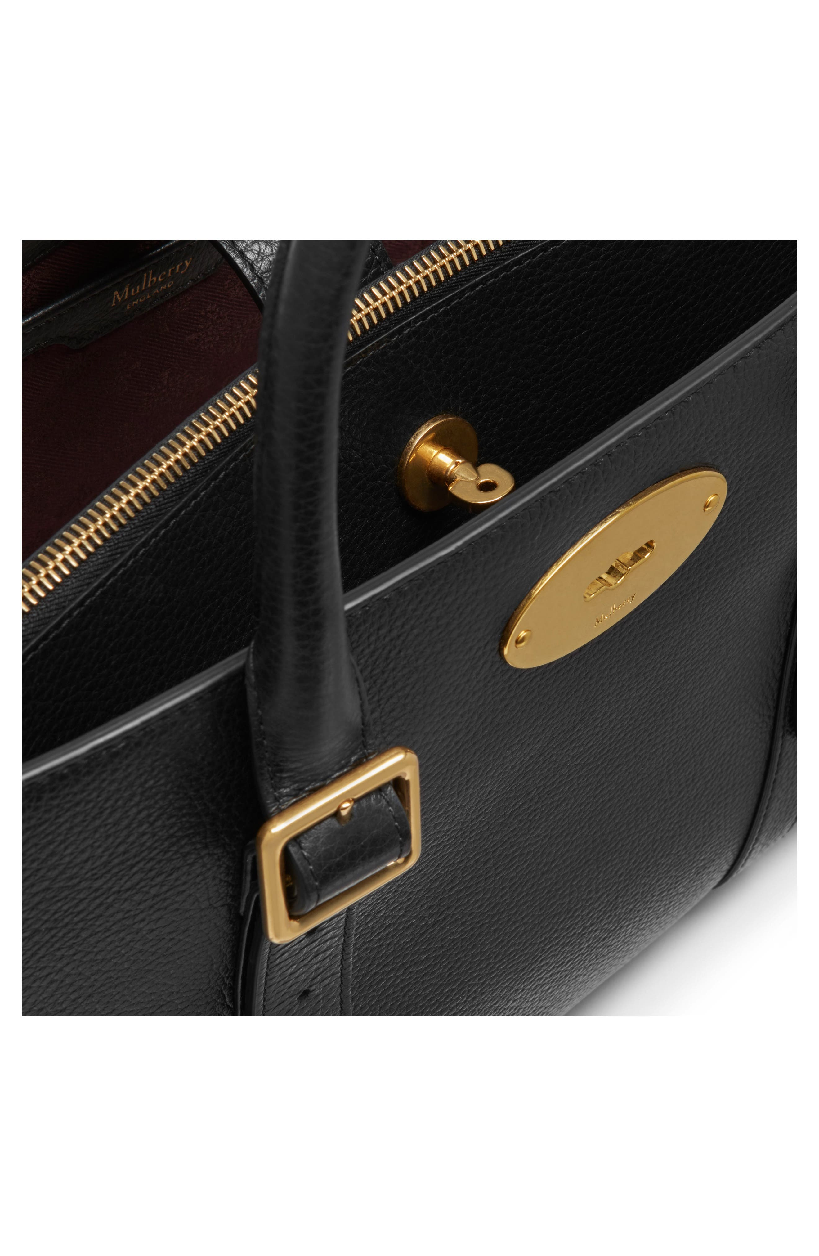 Bayswater Double Zip Leather Satchel,                             Alternate thumbnail 7, color,