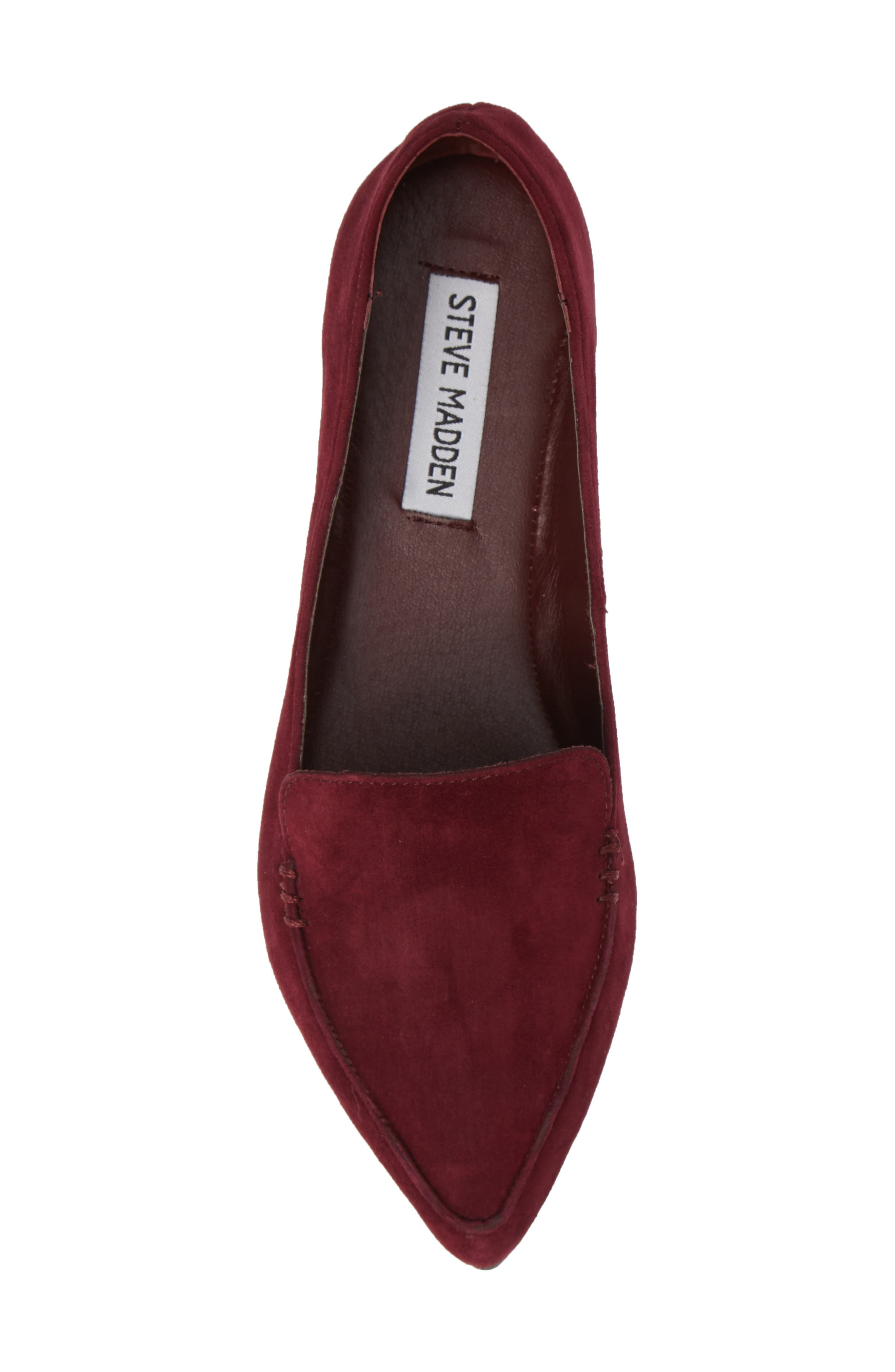 Feather Loafer Flat,                             Alternate thumbnail 5, color,                             BURGUNDY