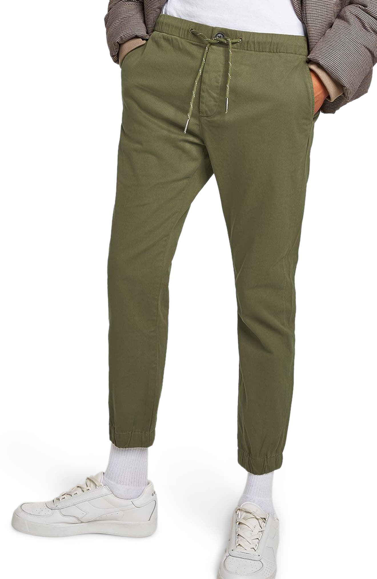 Woven Jogger Pants,                         Main,                         color, OLIVE
