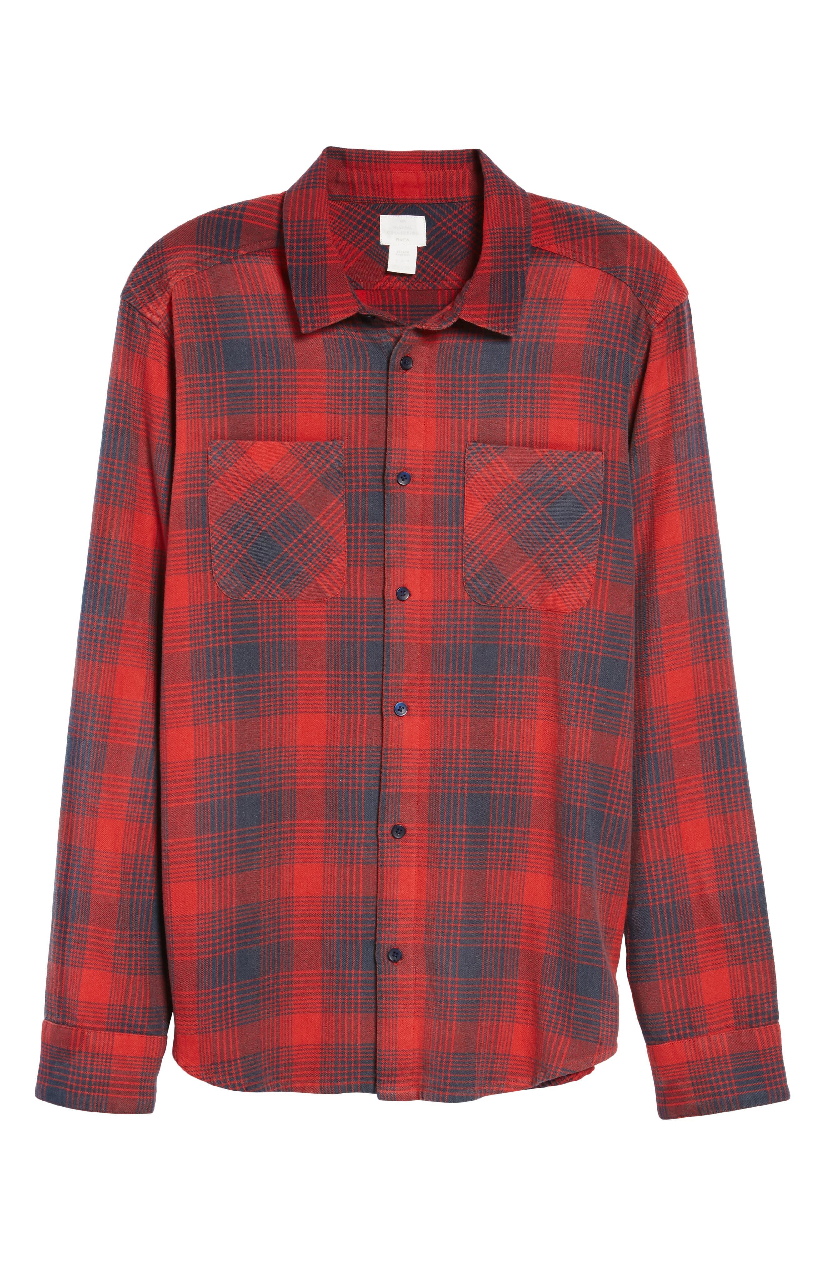 Plaid Woven Shirt,                             Alternate thumbnail 6, color,                             620
