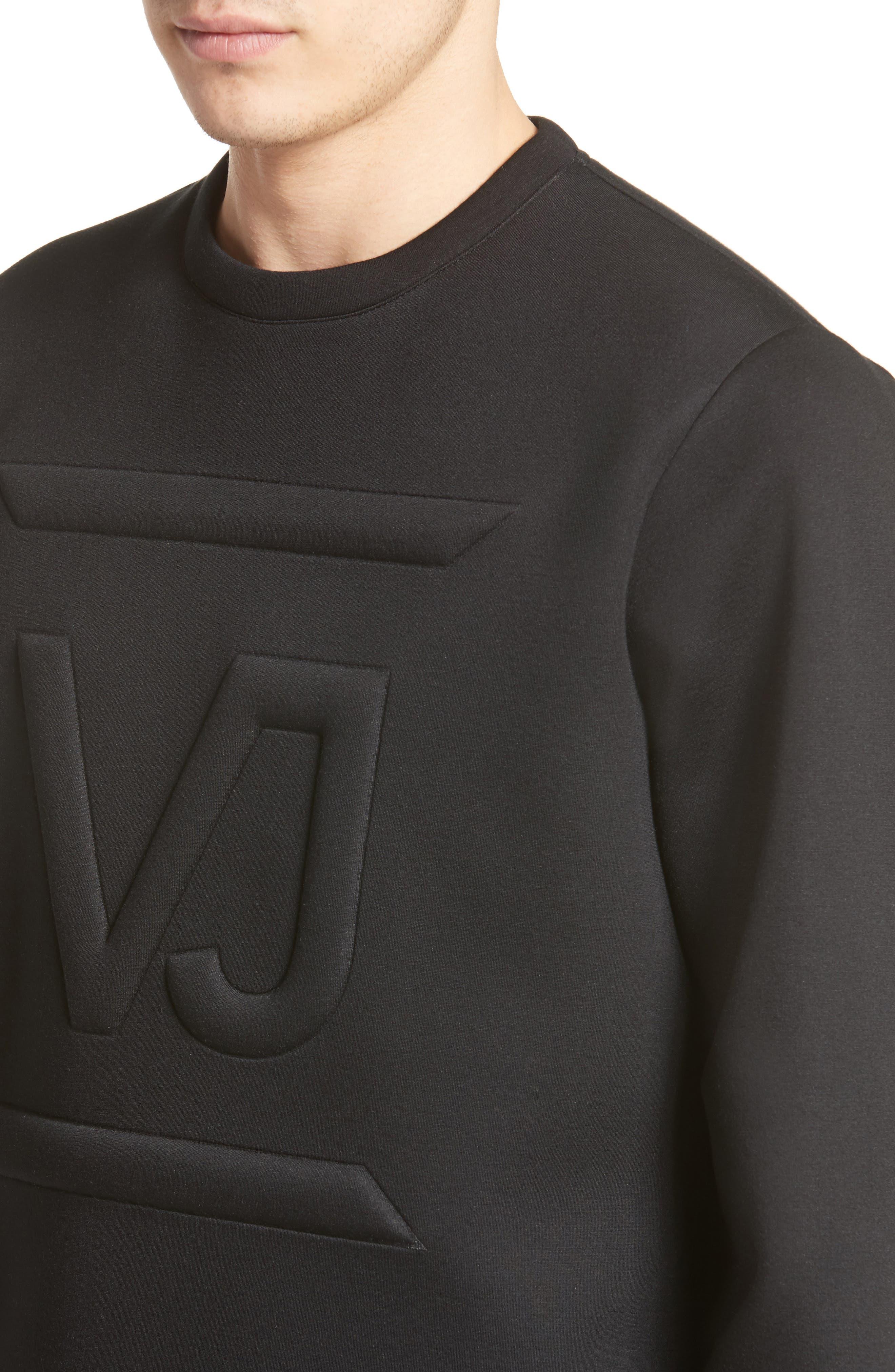 Large Logo Sweatshirt,                             Alternate thumbnail 4, color,                             001