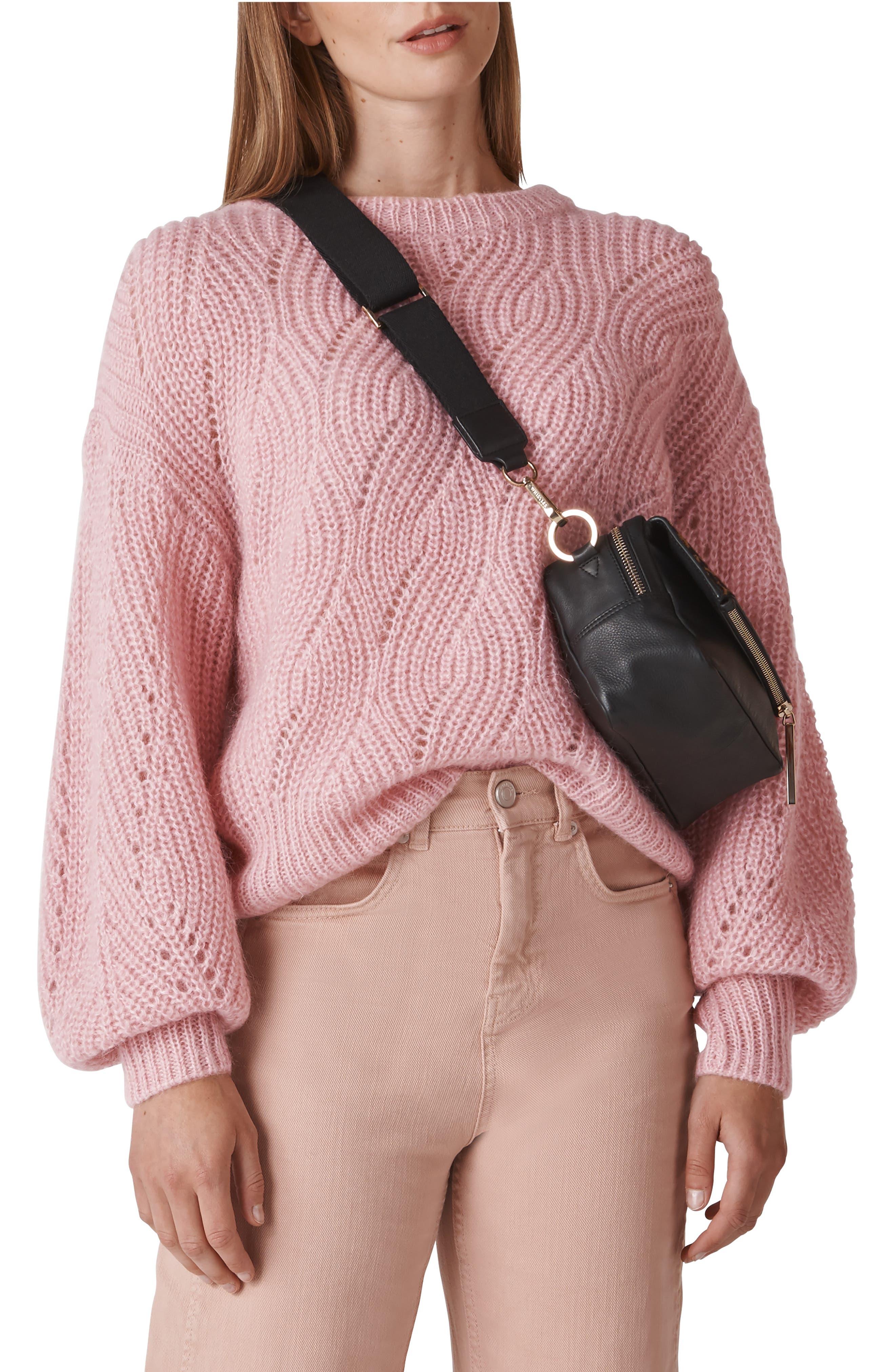Sophia Bishop-Sleeve Sweater in Pink