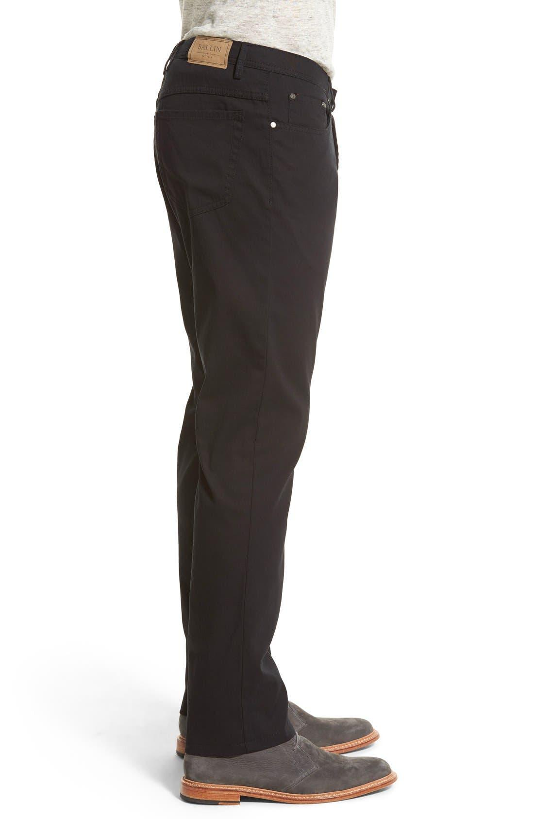 Crescent Pima Cotton Pants,                             Alternate thumbnail 4, color,                             001
