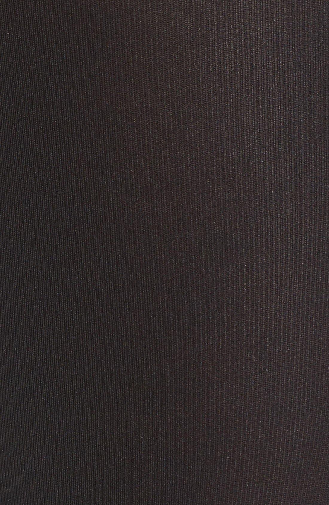 Matte Opaque Tights,                             Alternate thumbnail 2, color,                             BLACK