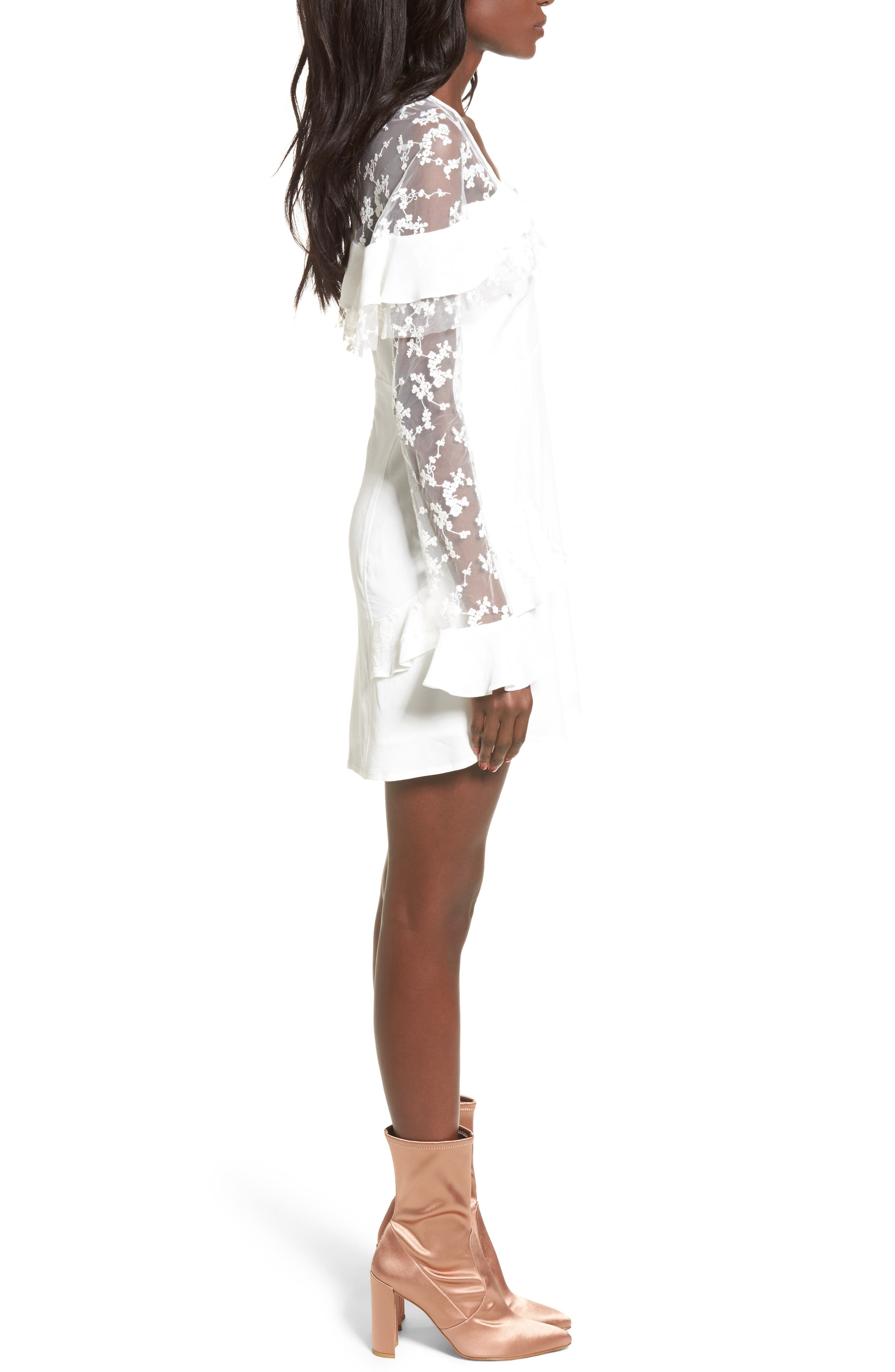 Rosebud Minidress,                             Alternate thumbnail 3, color,