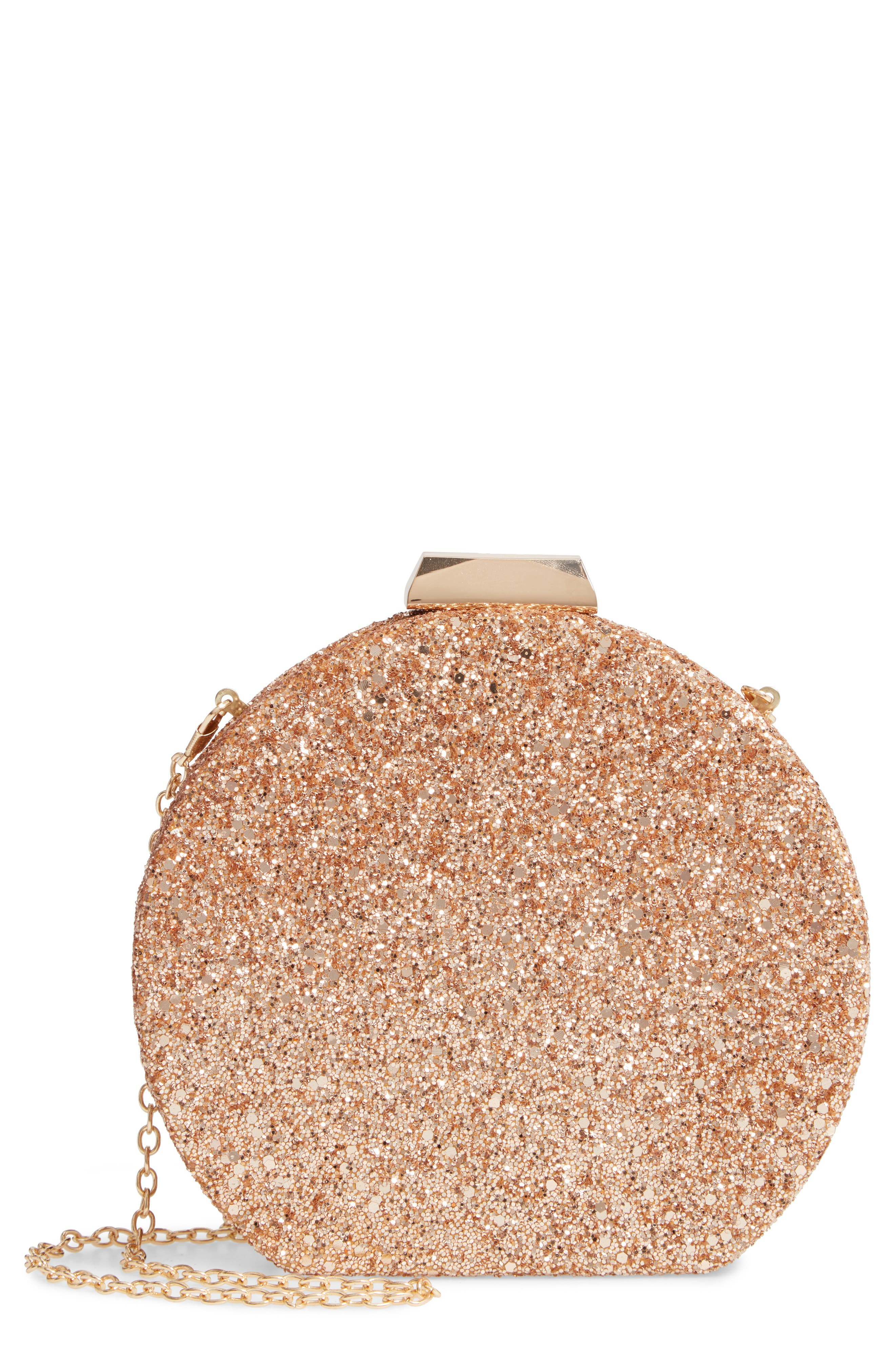 Glitter Clutch,                             Main thumbnail 1, color,                             GOLD
