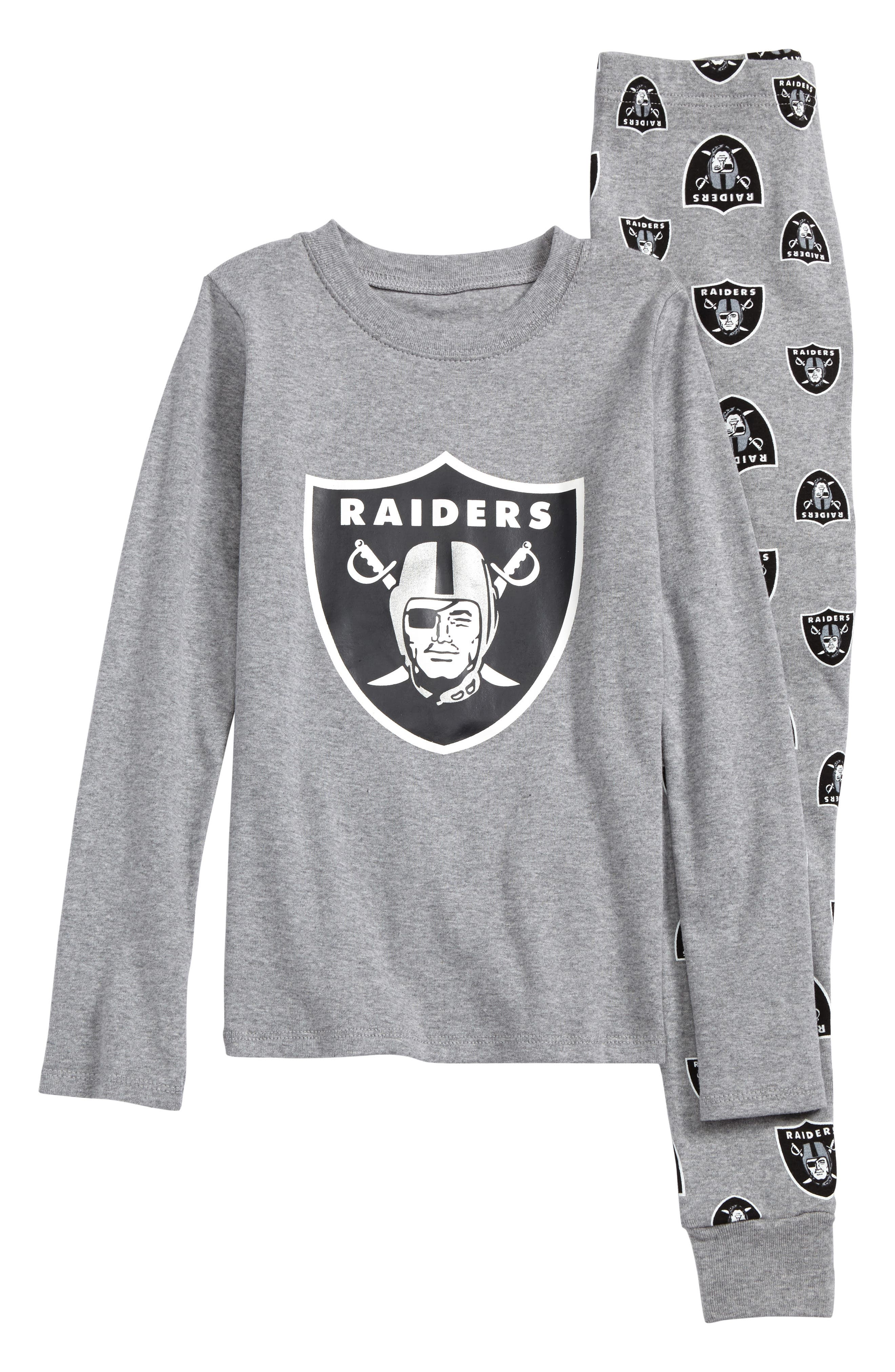 NFL Logo Team Fitted Two-Piece Pajamas,                             Main thumbnail 1, color,                             001