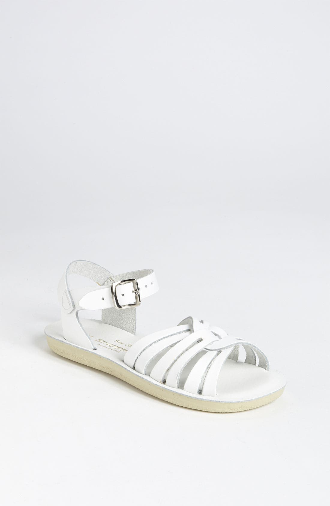 Strappy Sandal,                         Main,                         color, WHITE