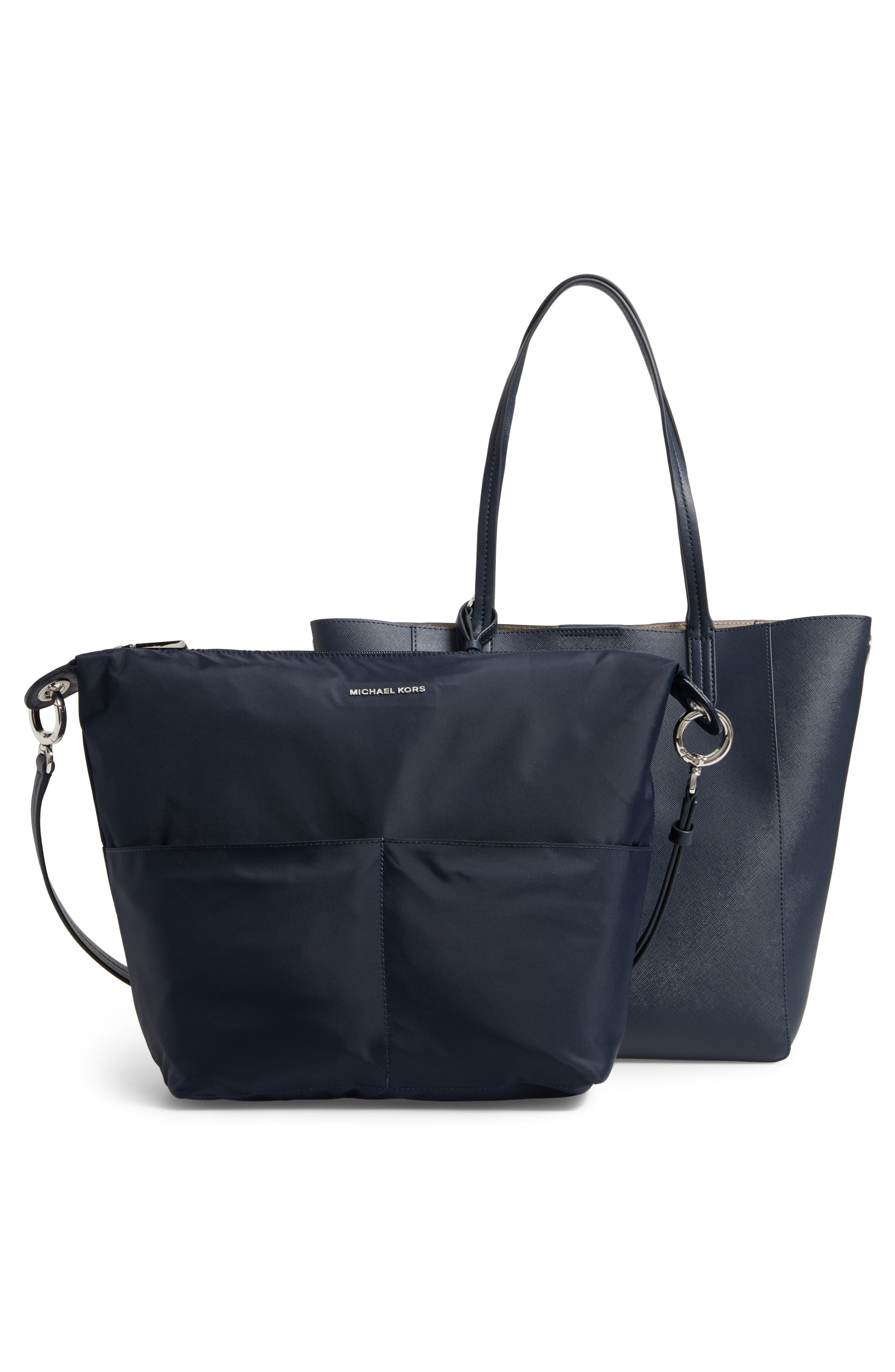 Penny Large Saffiano Convertible Leather Tote,                             Alternate thumbnail 3, color,                             414