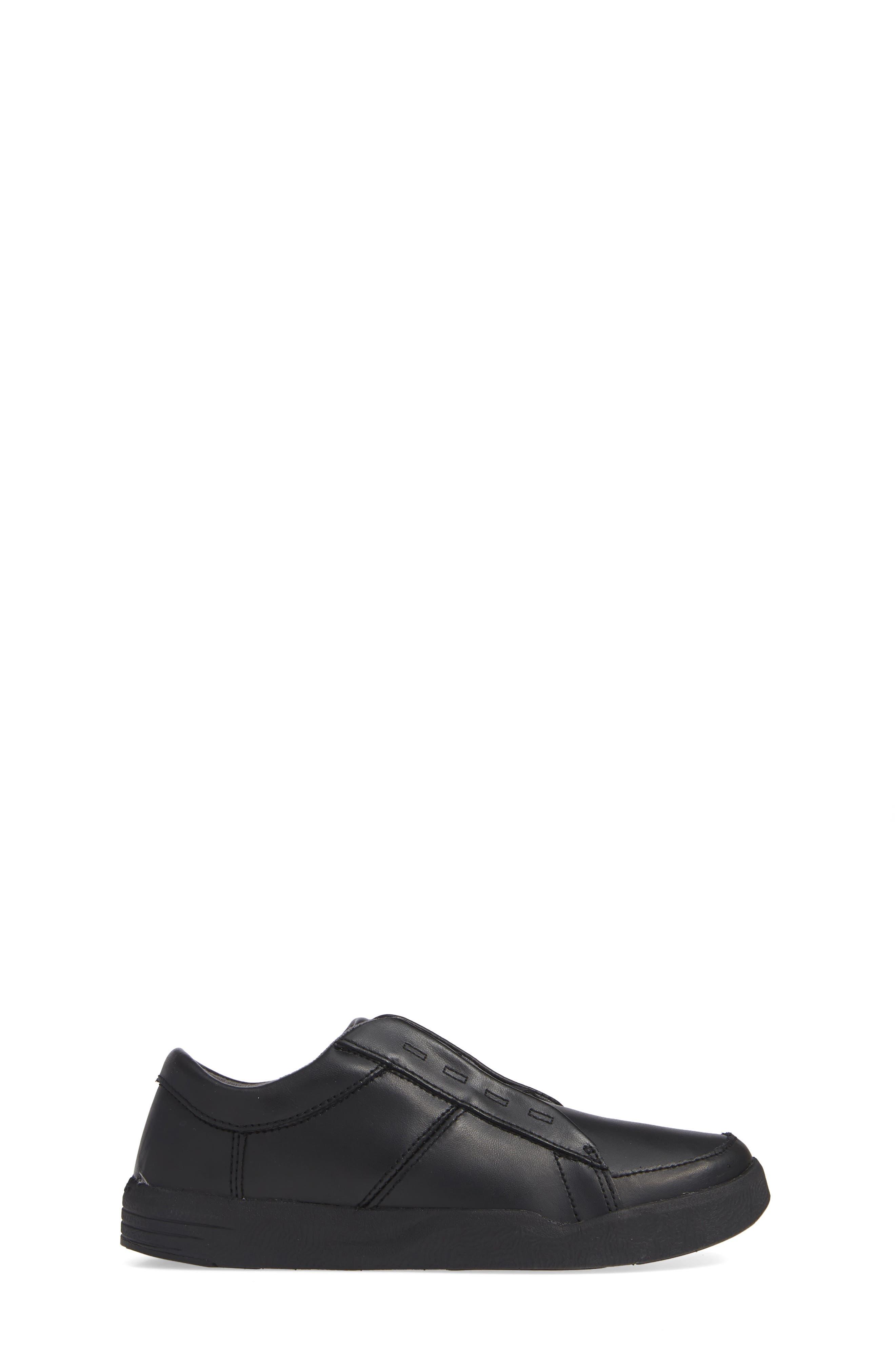 Layden Genius Leather Sneaker,                             Alternate thumbnail 3, color,                             BLACK/ BLACK
