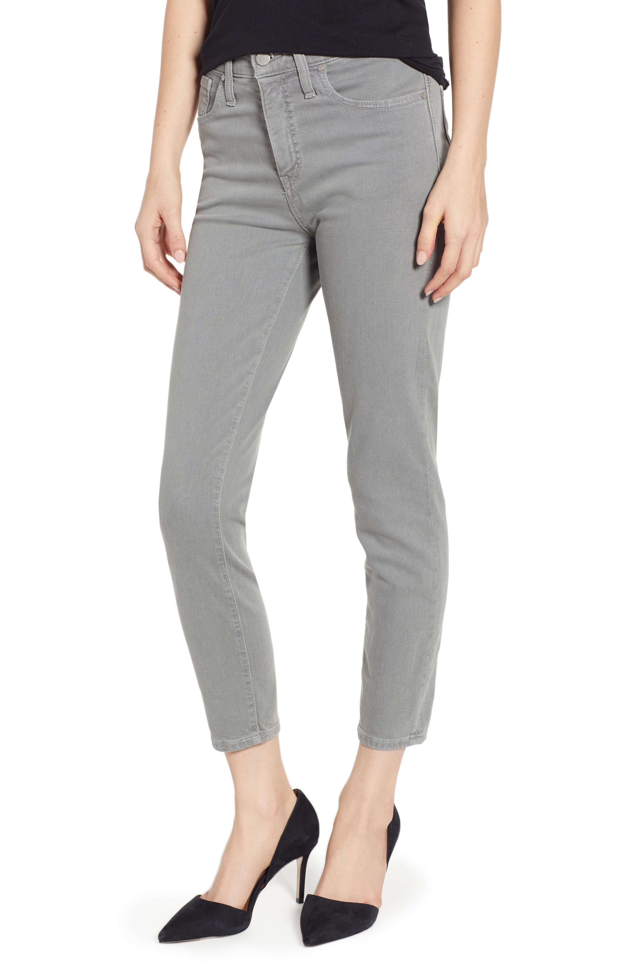 Sierra High Waist Ankle Skinny Pants,                         Main,                         color, GREY