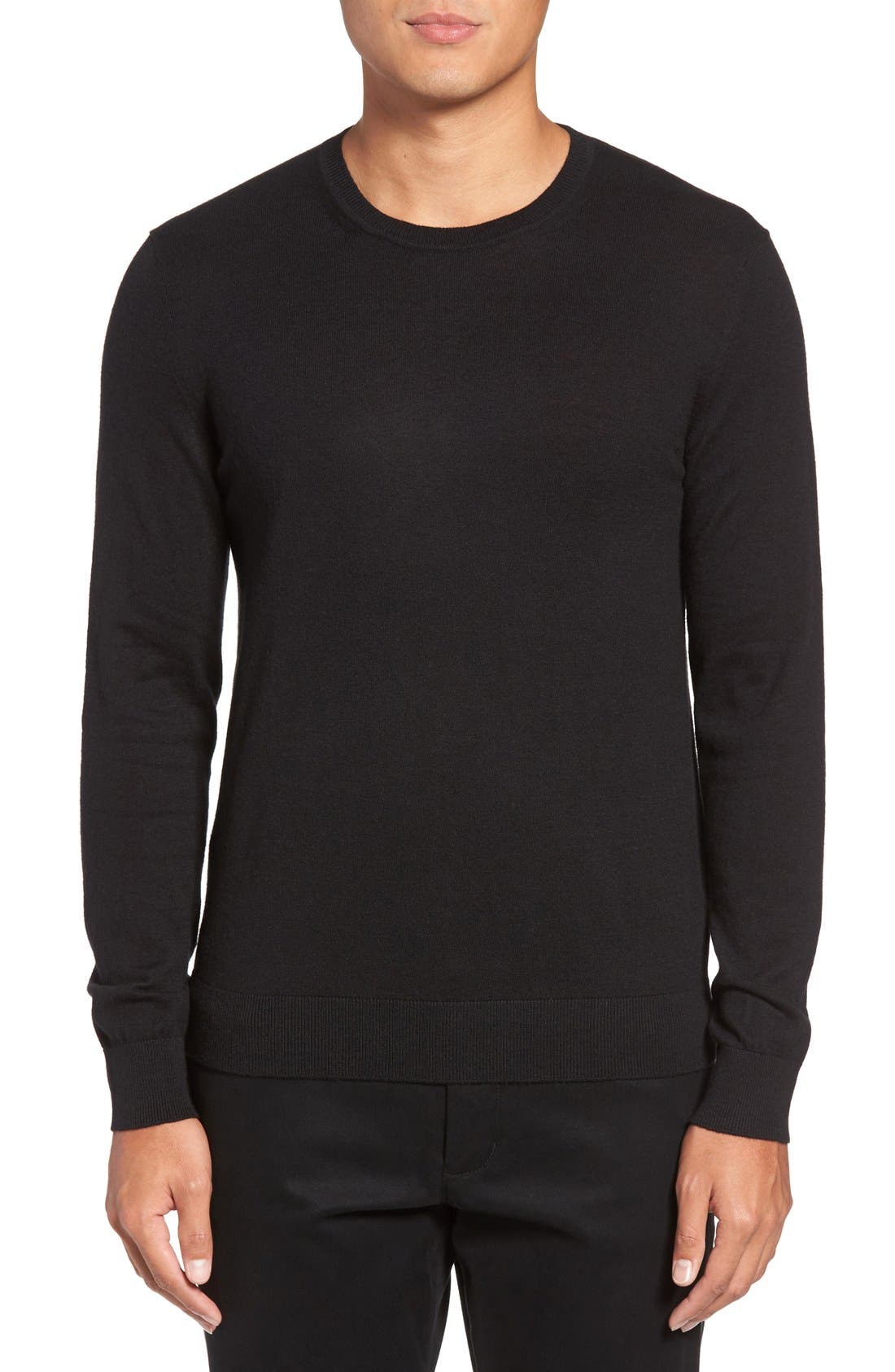 Brit Richmond Cotton & Cashmere Sweater,                             Main thumbnail 1, color,                             001