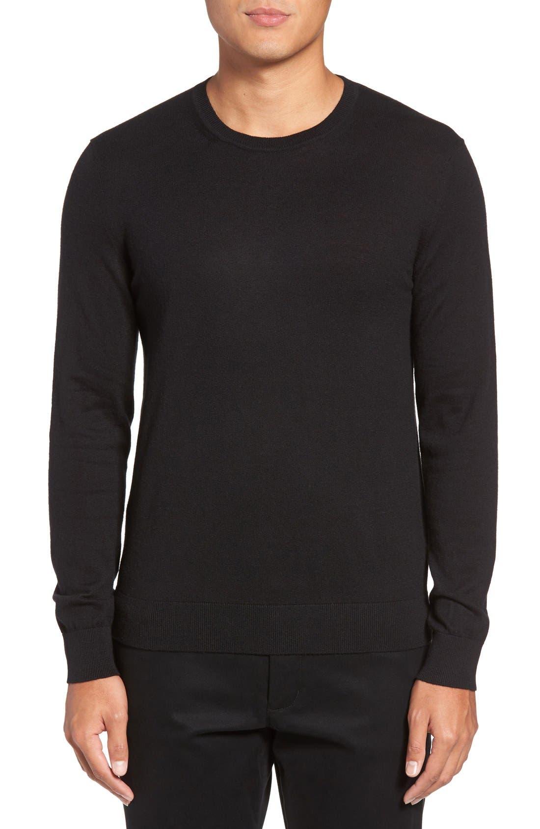 Brit Richmond Cotton & Cashmere Sweater,                         Main,                         color, 001