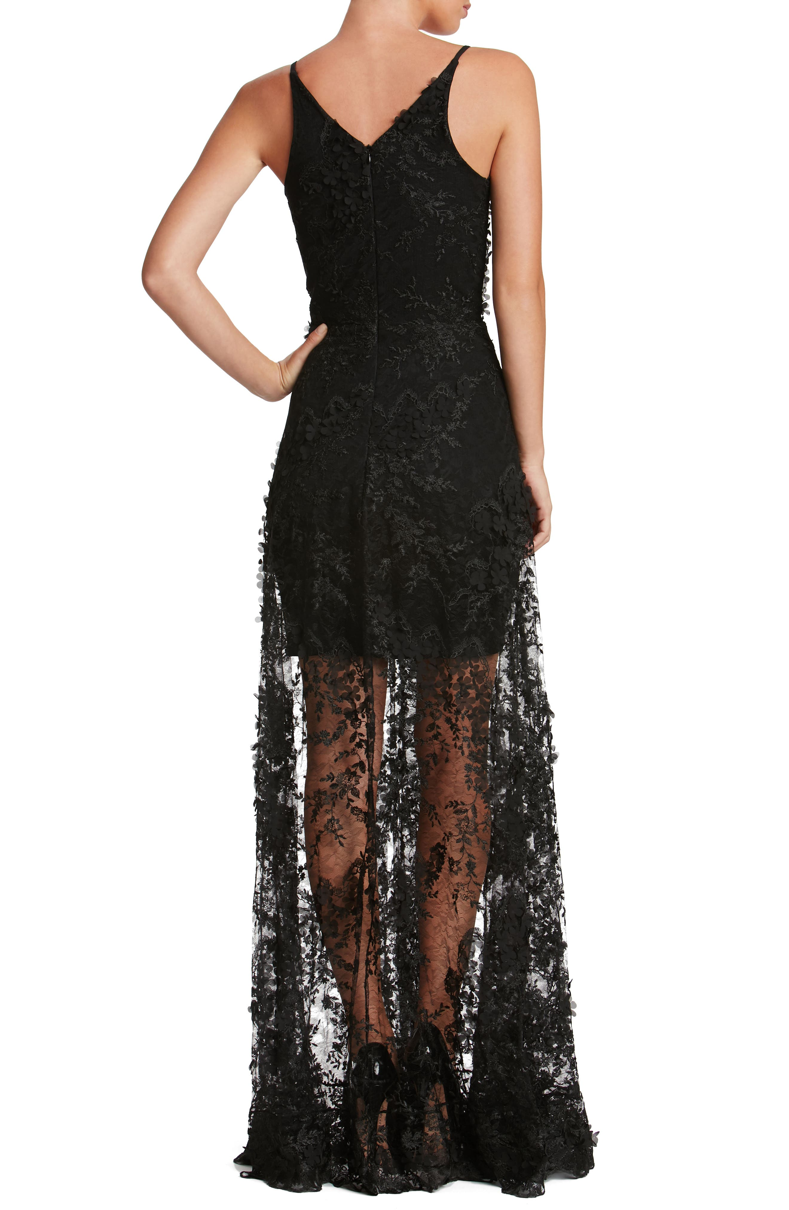 Sidney Lace Gown,                             Alternate thumbnail 4, color,