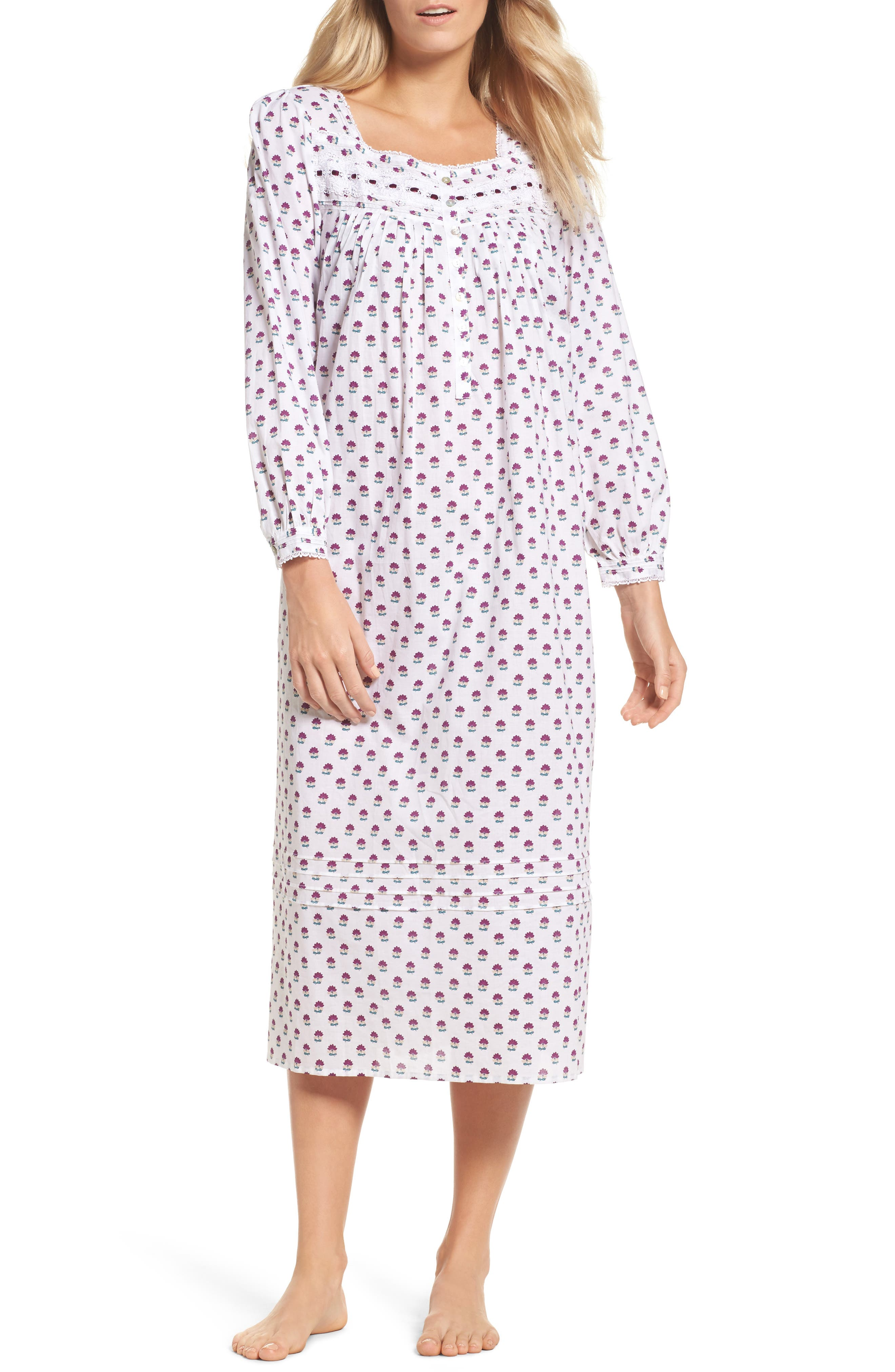 Ballet Flannel Nightgown,                             Main thumbnail 1, color,