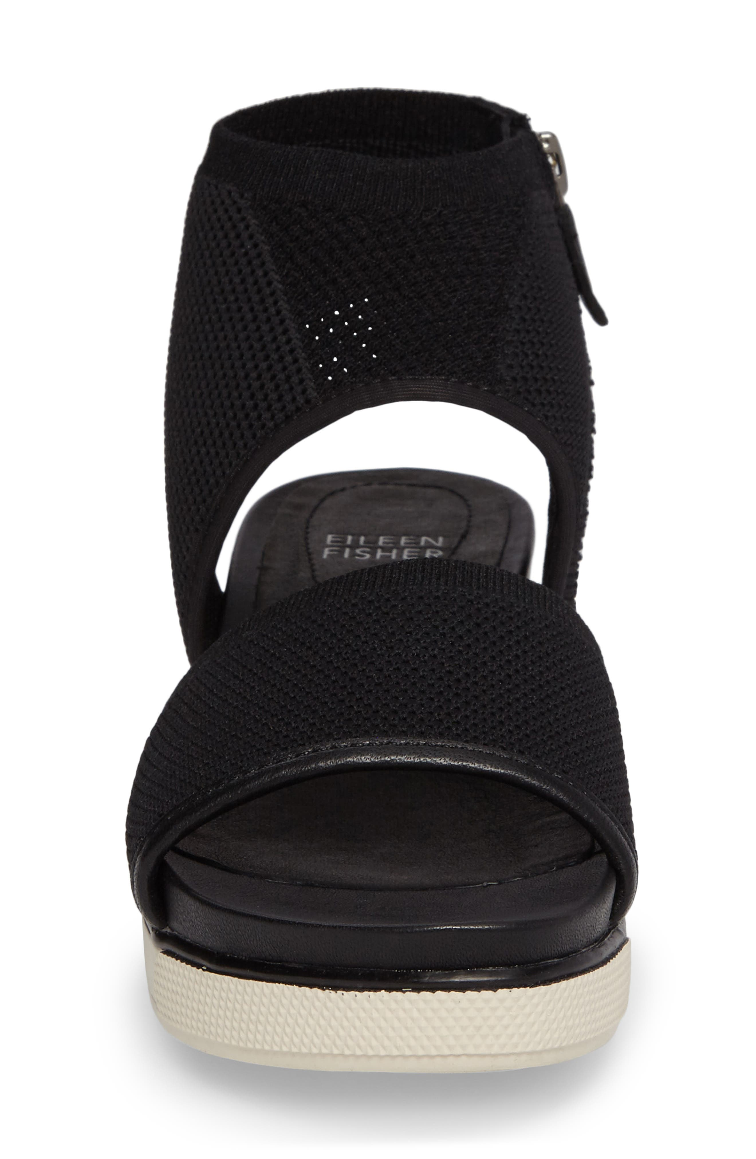 Knit Sport Sandal,                             Alternate thumbnail 4, color,                             001