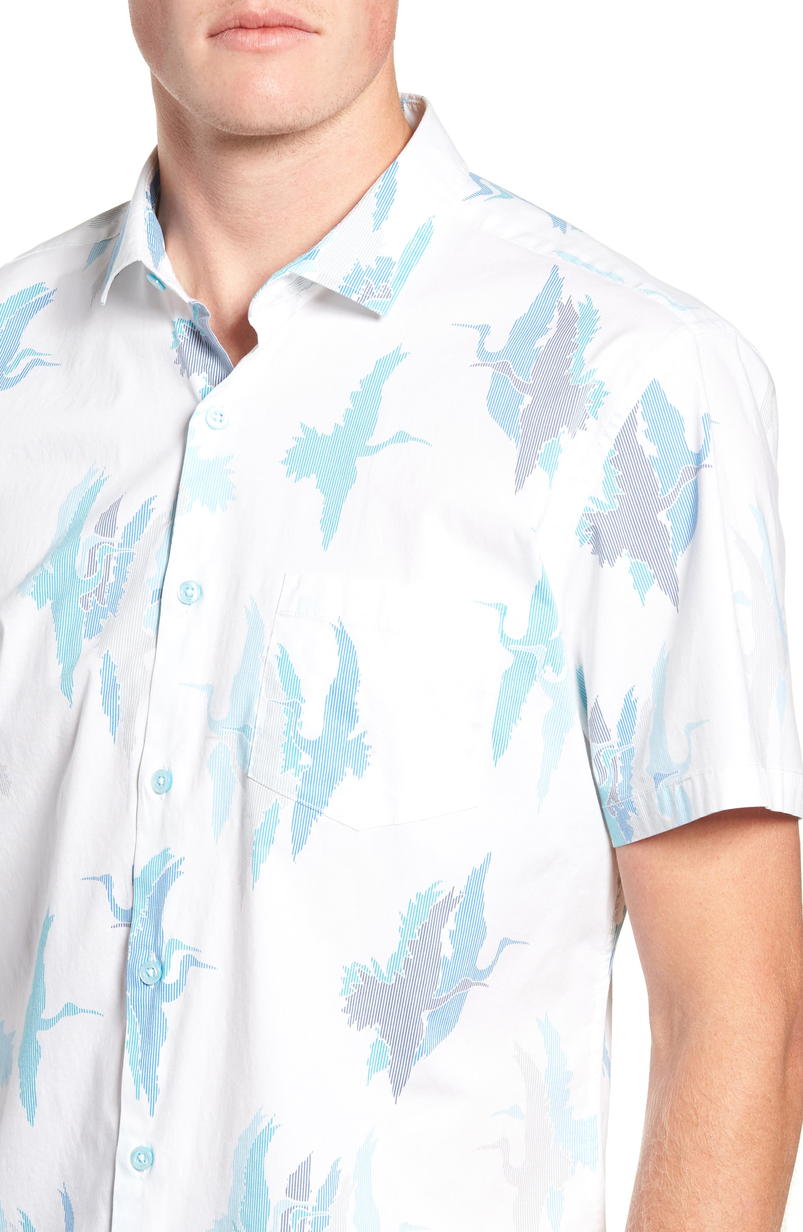 Shadow Crane Regular Fit Sport Shirt,                             Alternate thumbnail 2, color,                             100