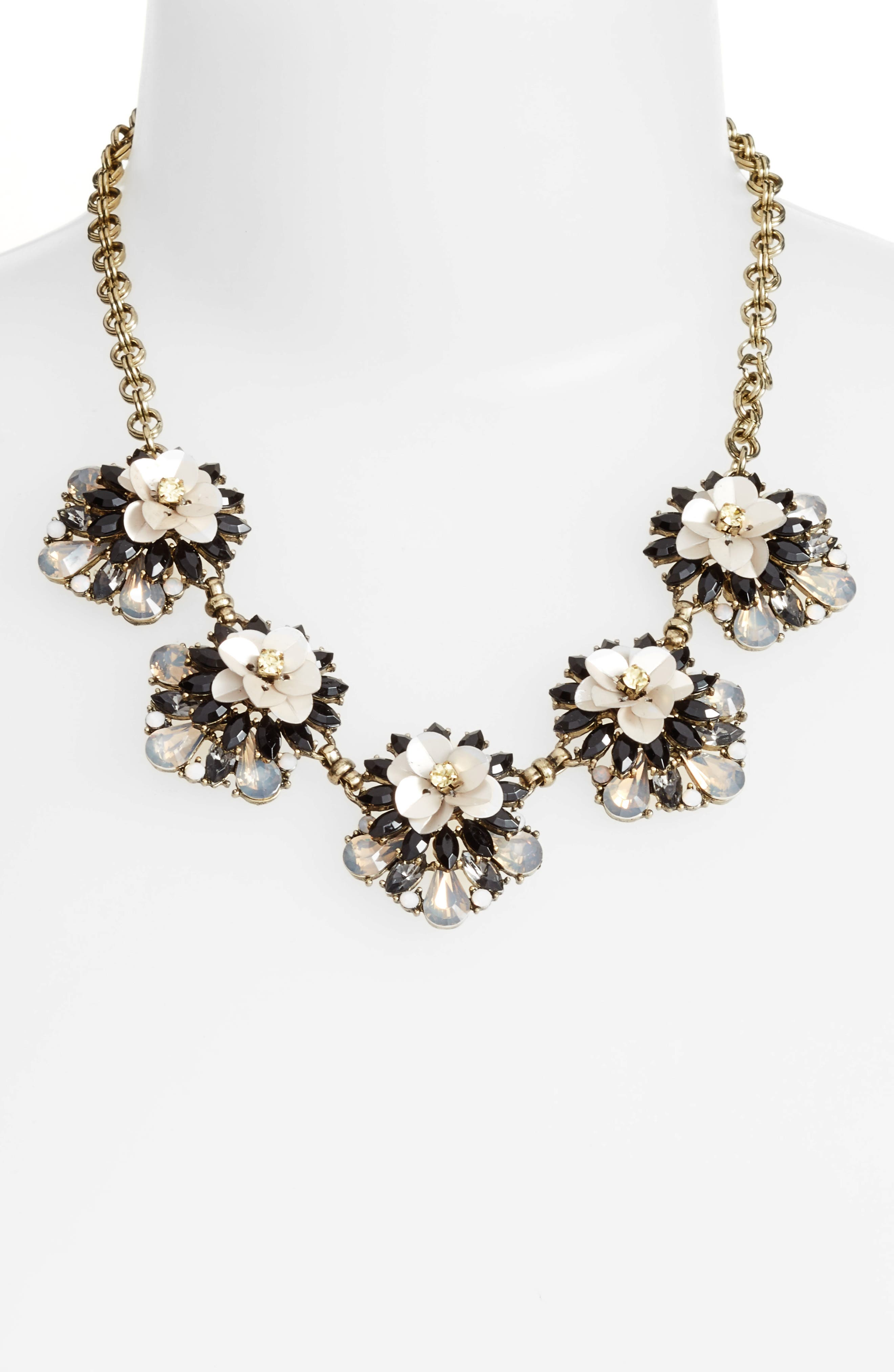 Floral Cluster Statement Necklace,                             Alternate thumbnail 2, color,                             220