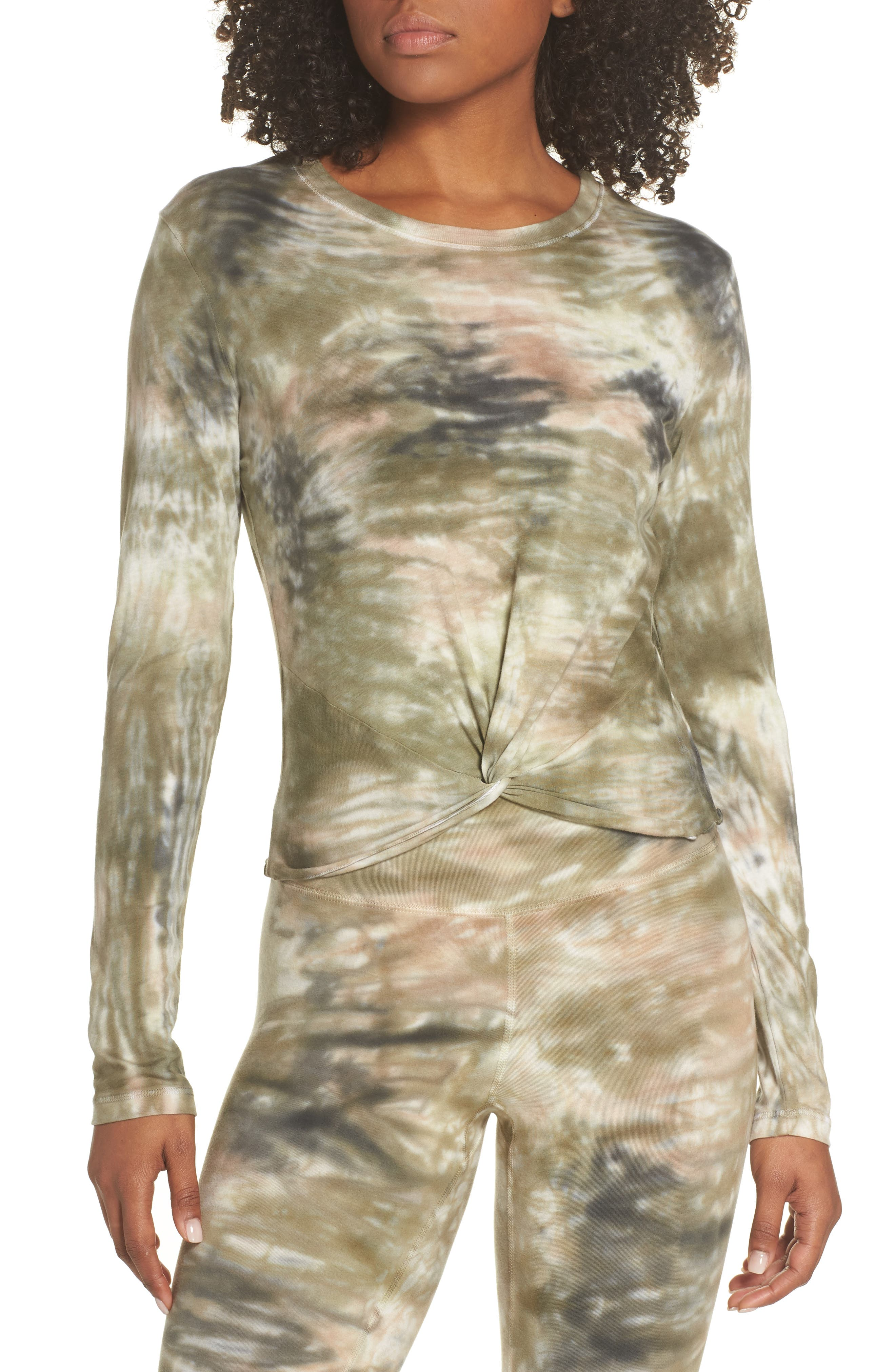 ELECTRIC & ROSE Shell Knot Shirt in Camo Wash Army