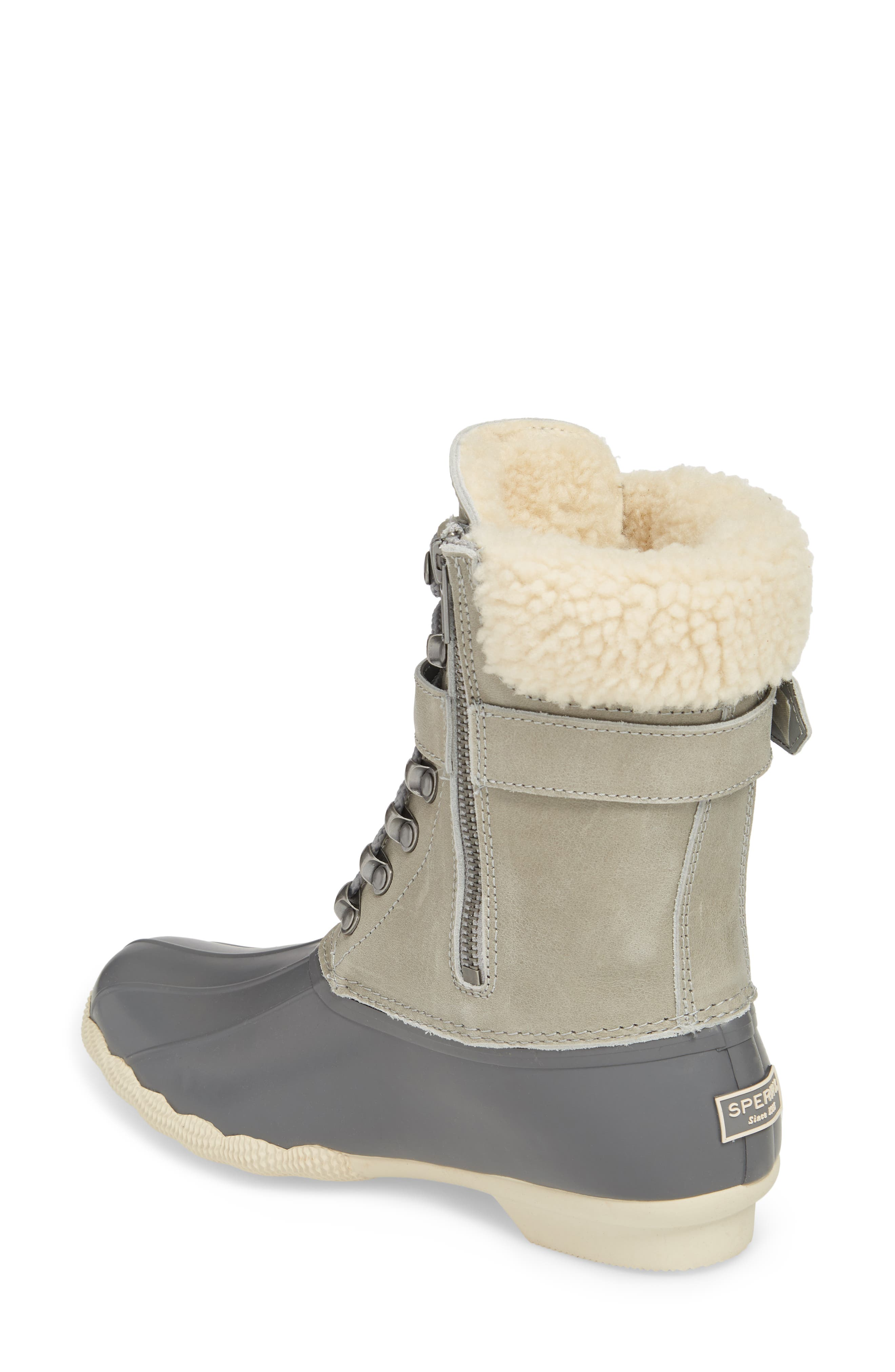 Shearwater Water-Resistant Genuine Shearling Lined Boot,                             Alternate thumbnail 7, color,