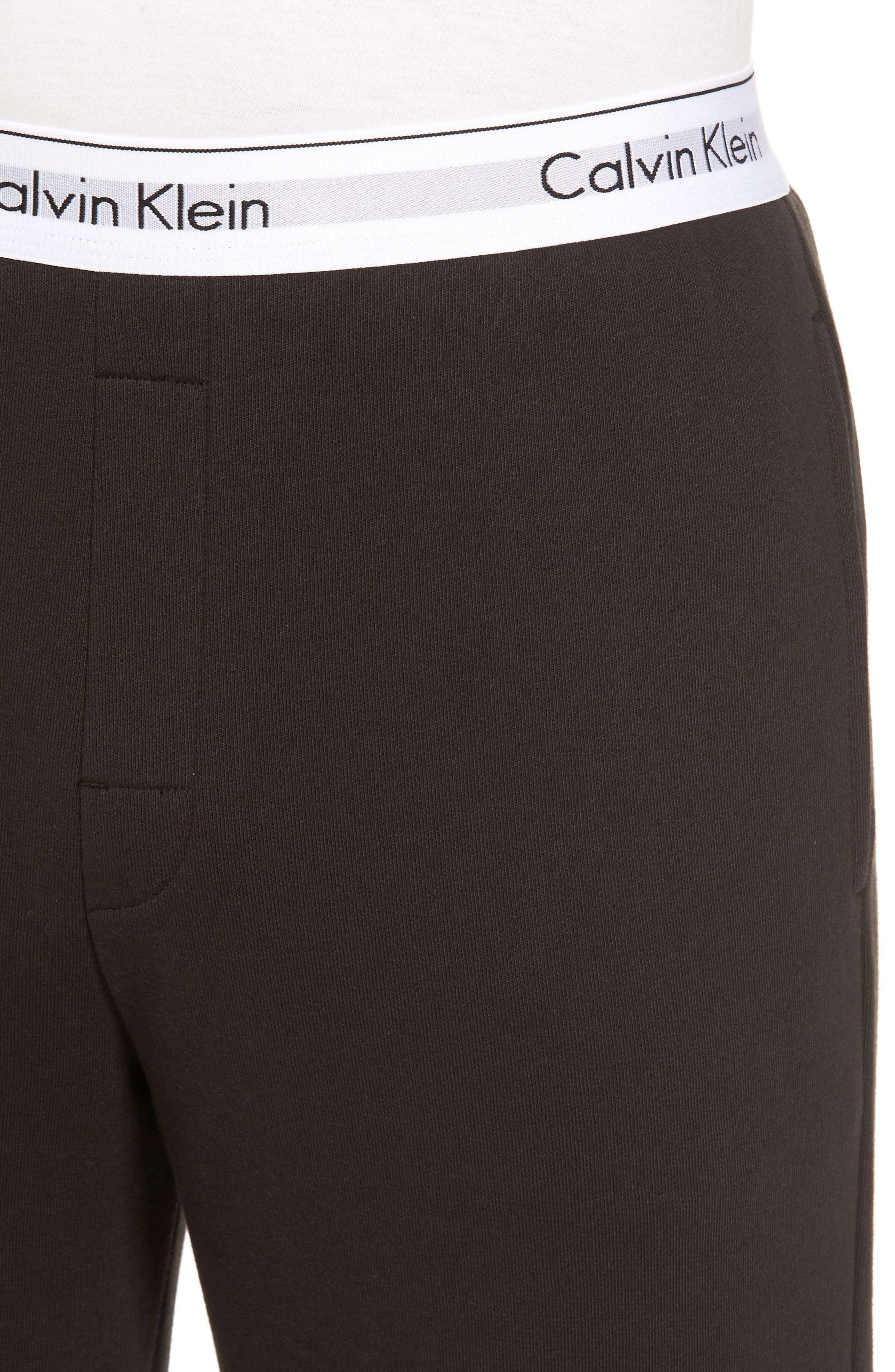 Modern Cotton Blend Lounge Pants,                             Alternate thumbnail 4, color,                             002