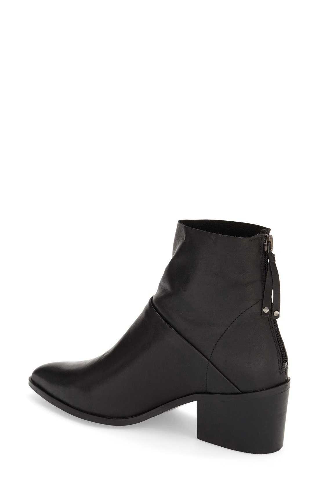 TOPSHOP,                             'Midnight' Pointy Toe Boot,                             Alternate thumbnail 4, color,                             001