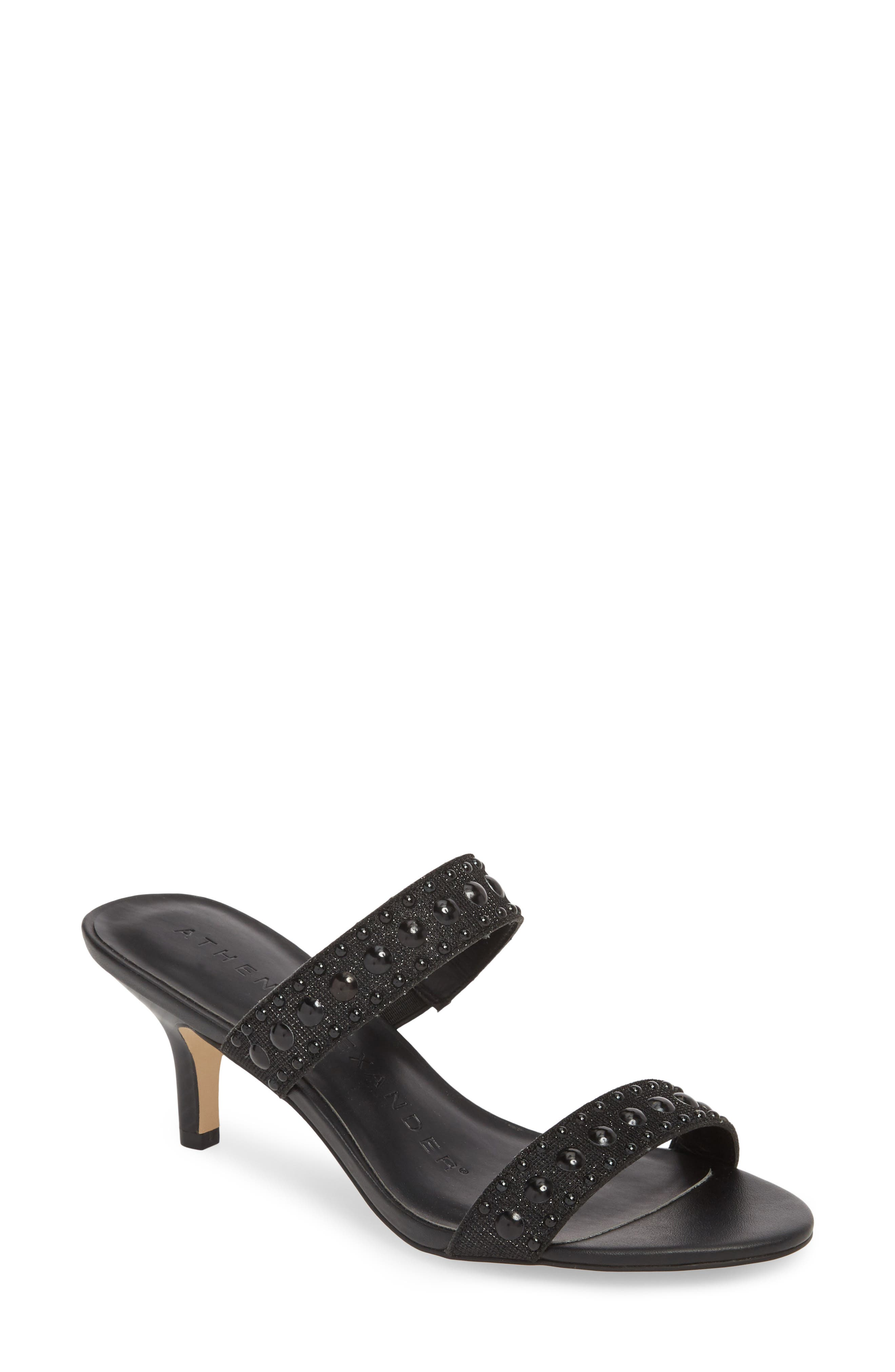 ATHENA ALEXANDER,                             Jettie Studded Mule,                             Main thumbnail 1, color,                             001