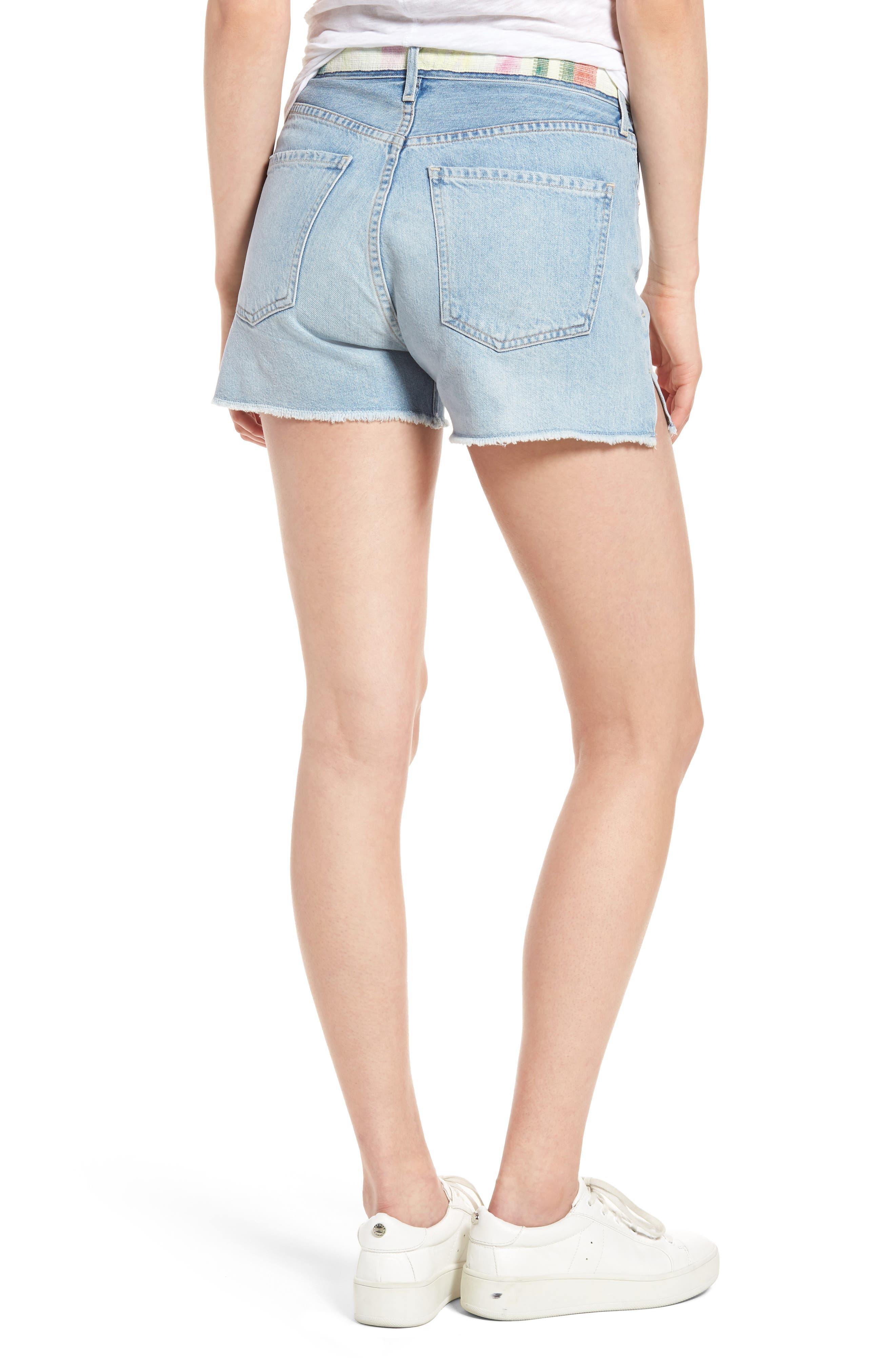 Alyx High Waist Cutoff Denim Shorts,                             Alternate thumbnail 2, color,                             400