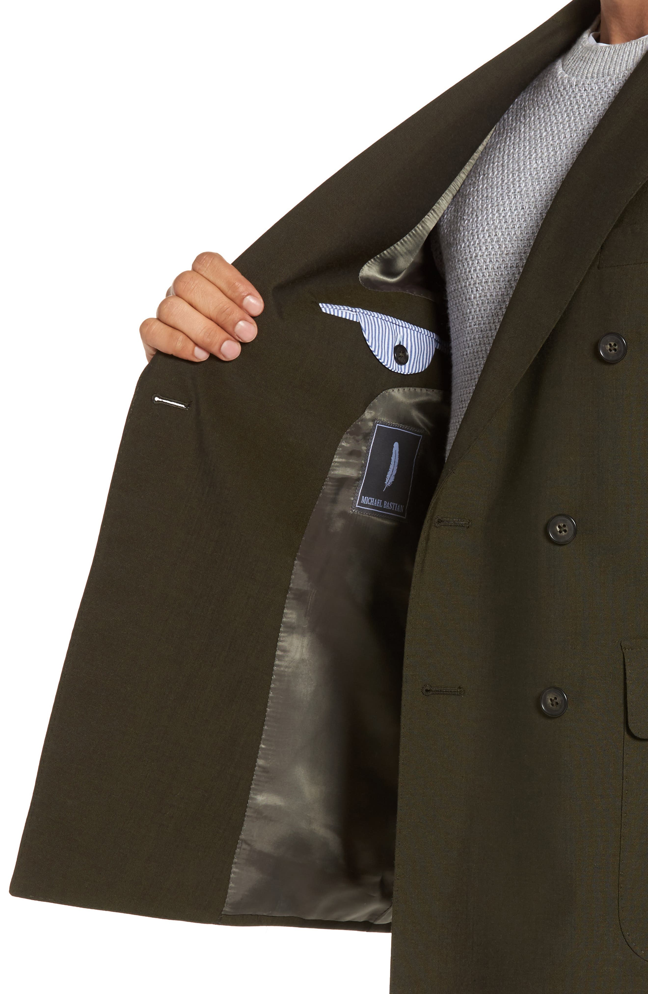 Classic Fit Double Breasted Solid Wool Suit,                             Alternate thumbnail 4, color,                             300