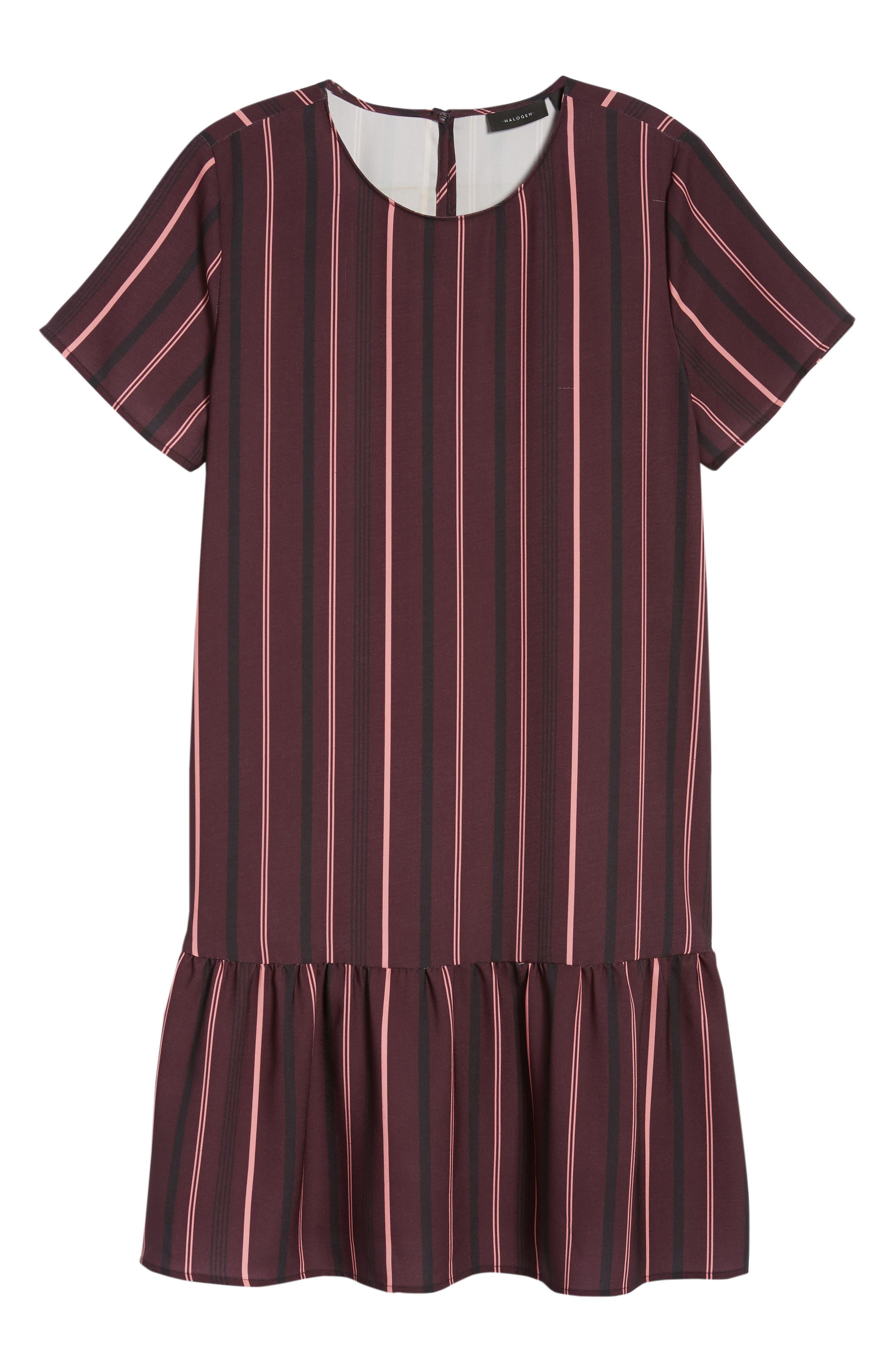 Short Sleeve Ruffle Hem Dress,                             Alternate thumbnail 37, color,