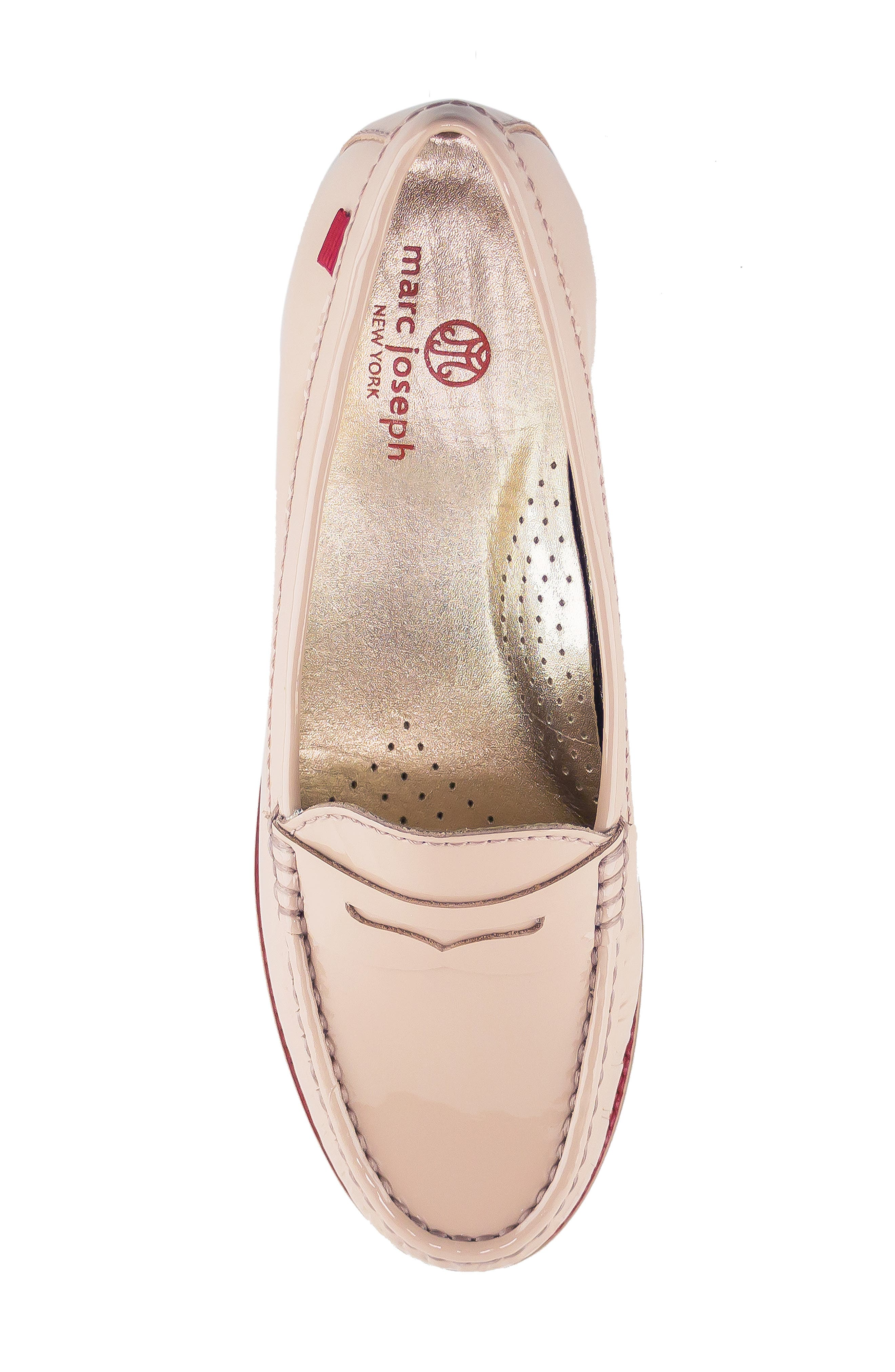 East Village Loafer,                             Alternate thumbnail 4, color,                             NUDE PATENT