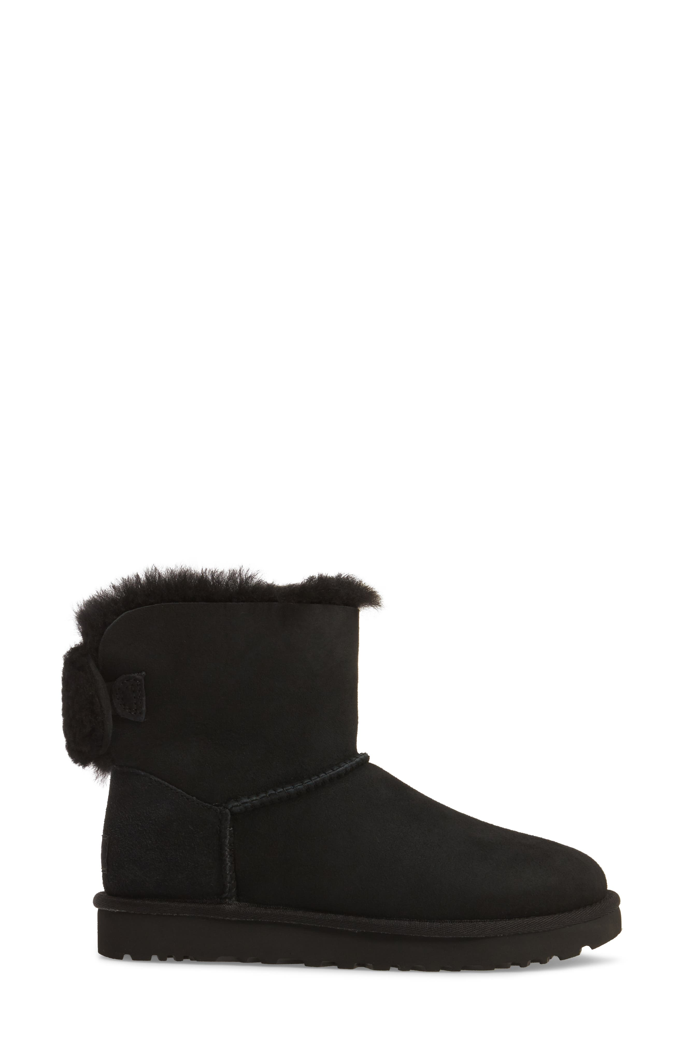 Arielle Genuine Shearling Bootie,                             Alternate thumbnail 7, color,
