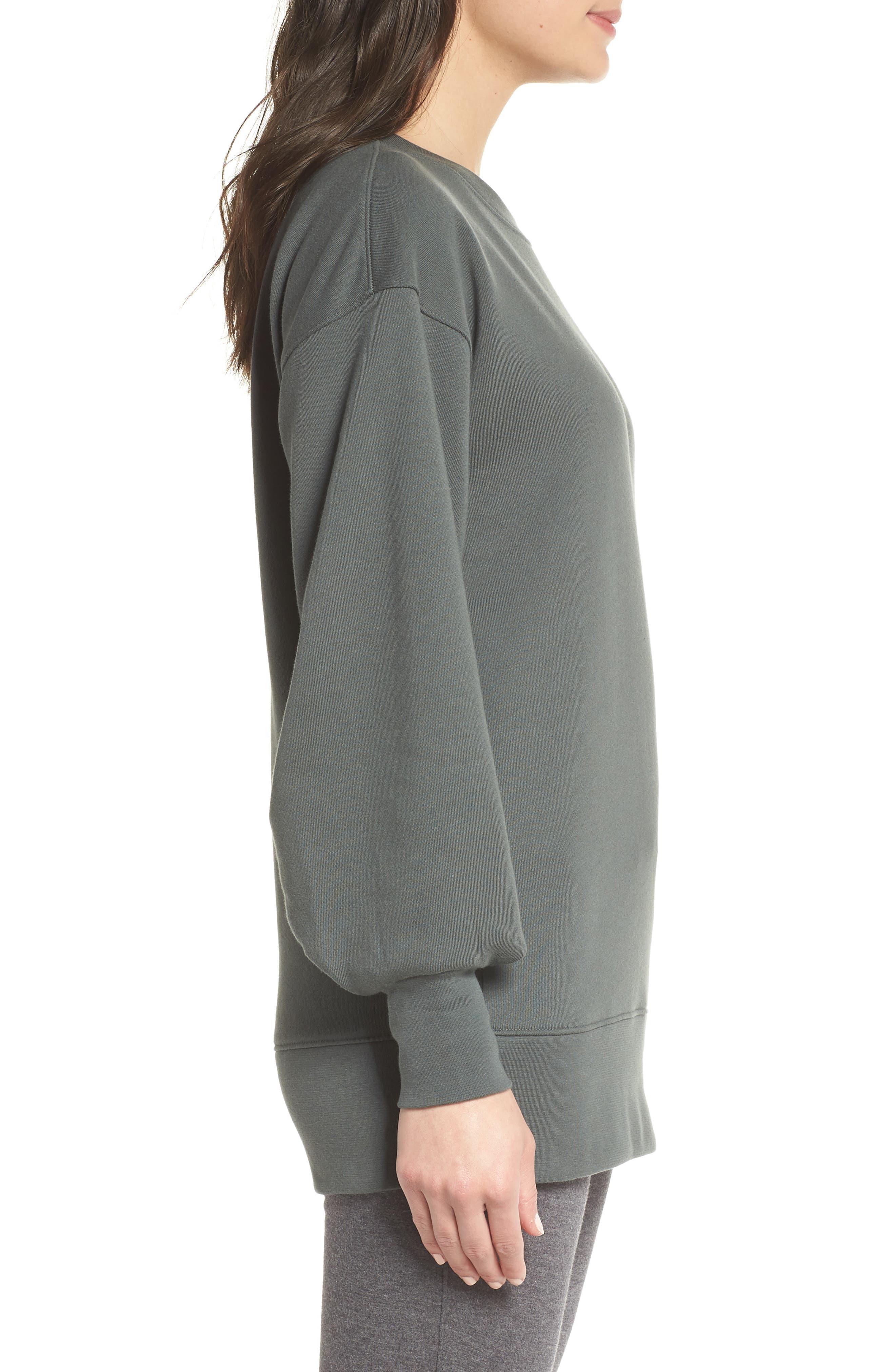 Boxy Oversize Sweatshirt,                             Alternate thumbnail 9, color,