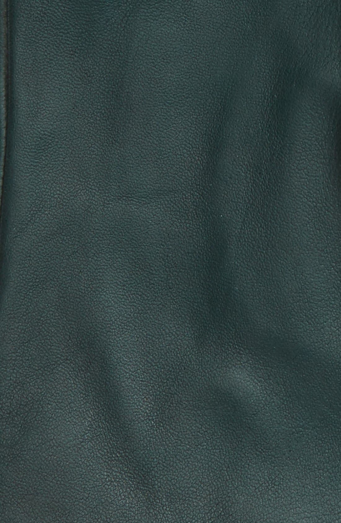 Short Leather Gloves,                             Alternate thumbnail 10, color,