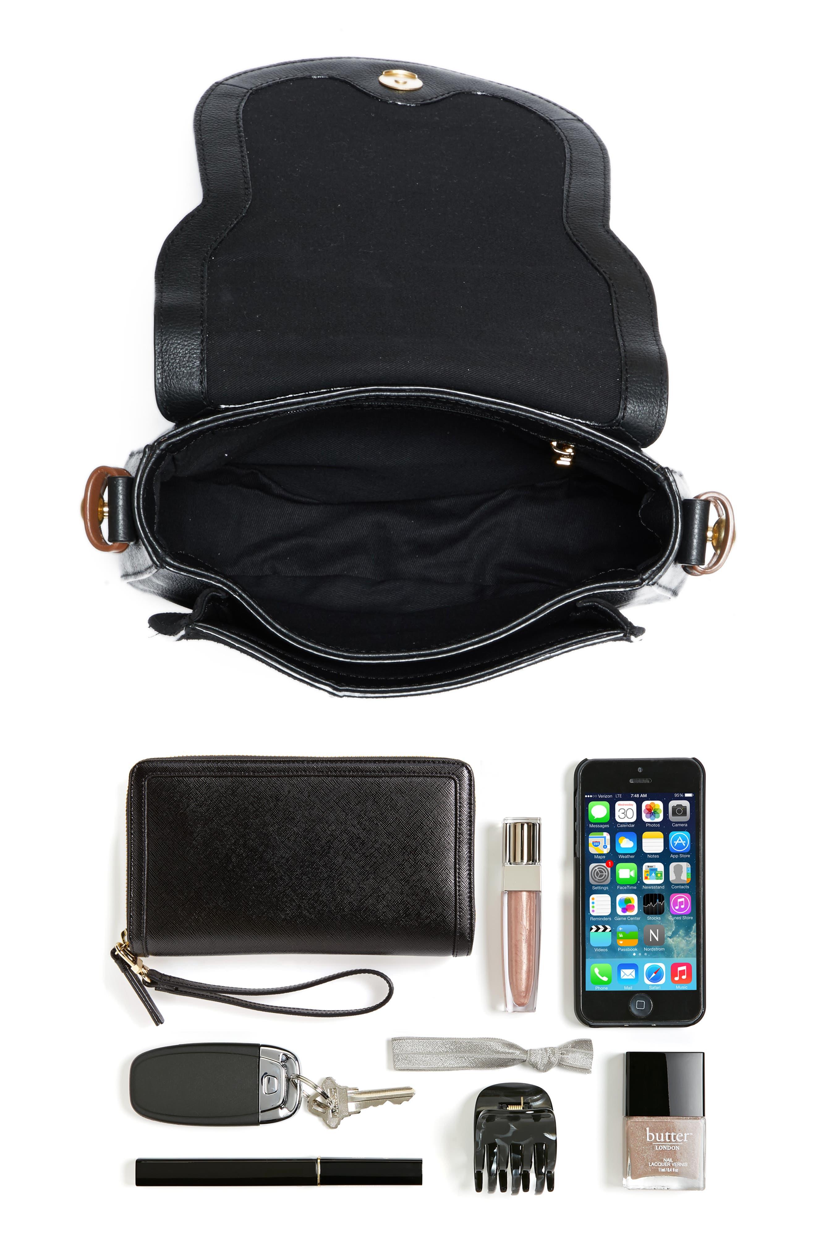 Small Lumir Leather Crossbody Bag,                             Alternate thumbnail 7, color,                             001