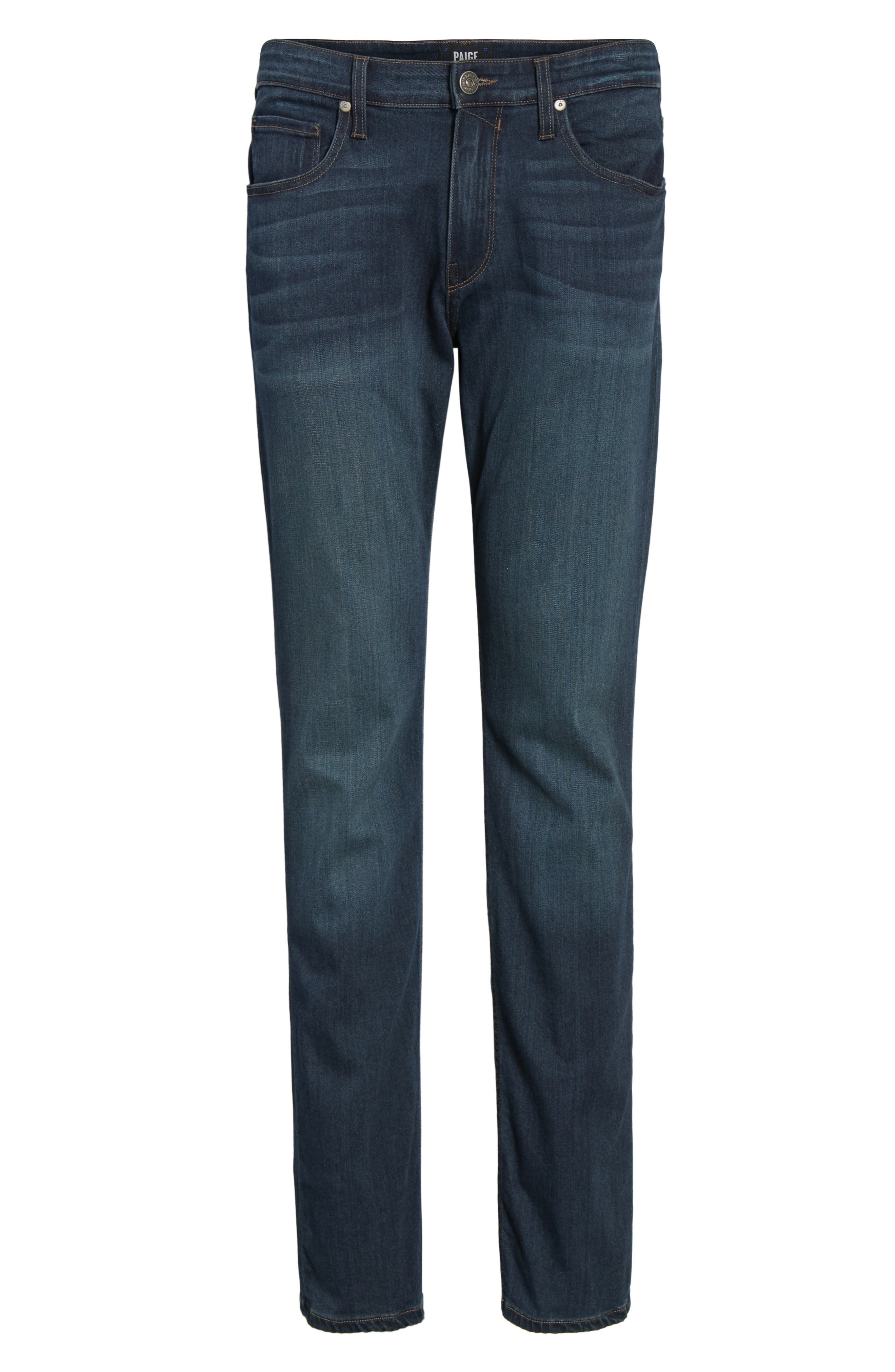 Normandie Straight Fit Jeans,                             Alternate thumbnail 6, color,                             400