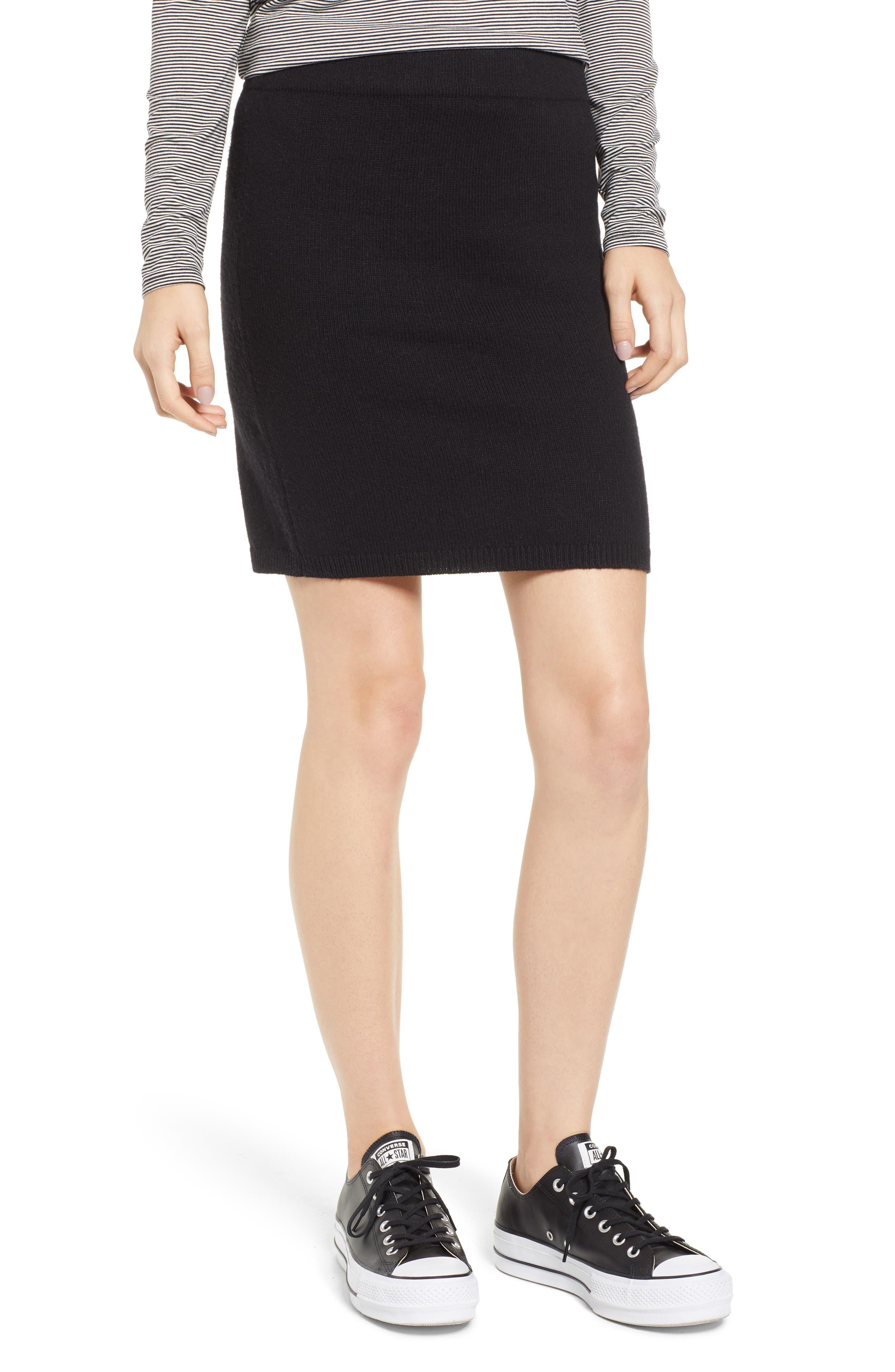 Bp. Sweater Skirt, Black