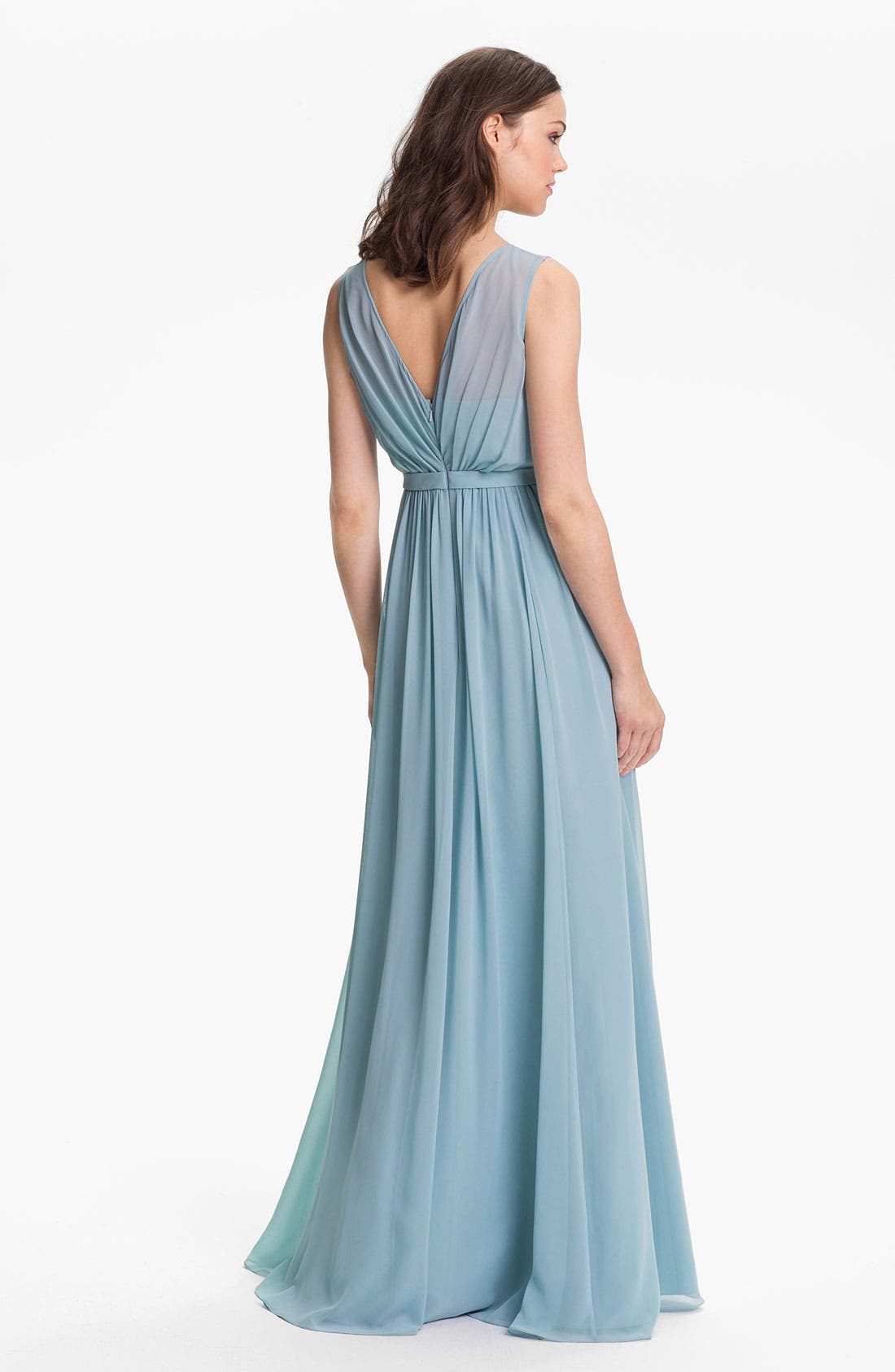 Vivienne Pleated Chiffon Gown,                             Alternate thumbnail 24, color,