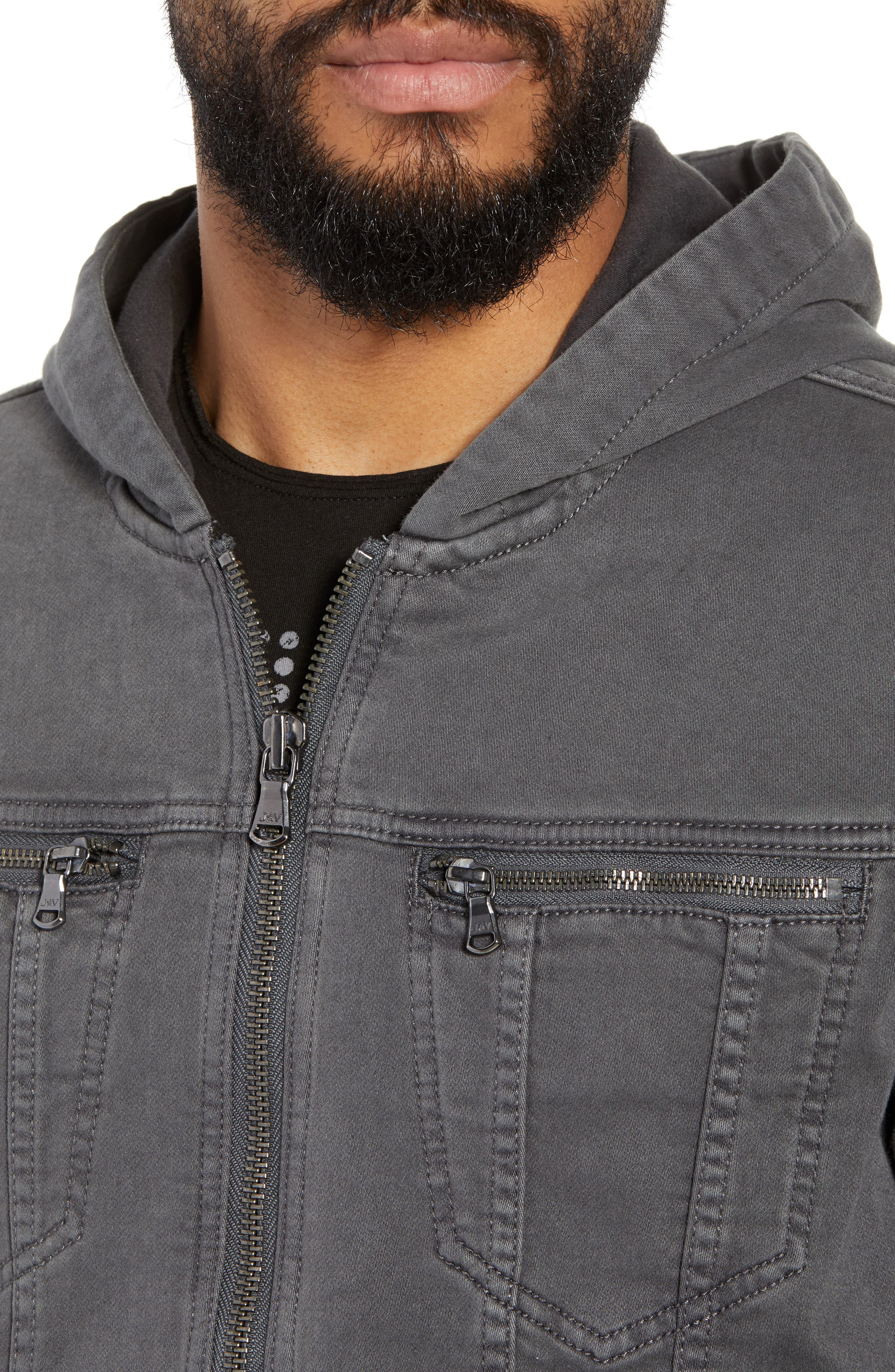 Hooded Denim Jacket,                             Alternate thumbnail 4, color,                             020