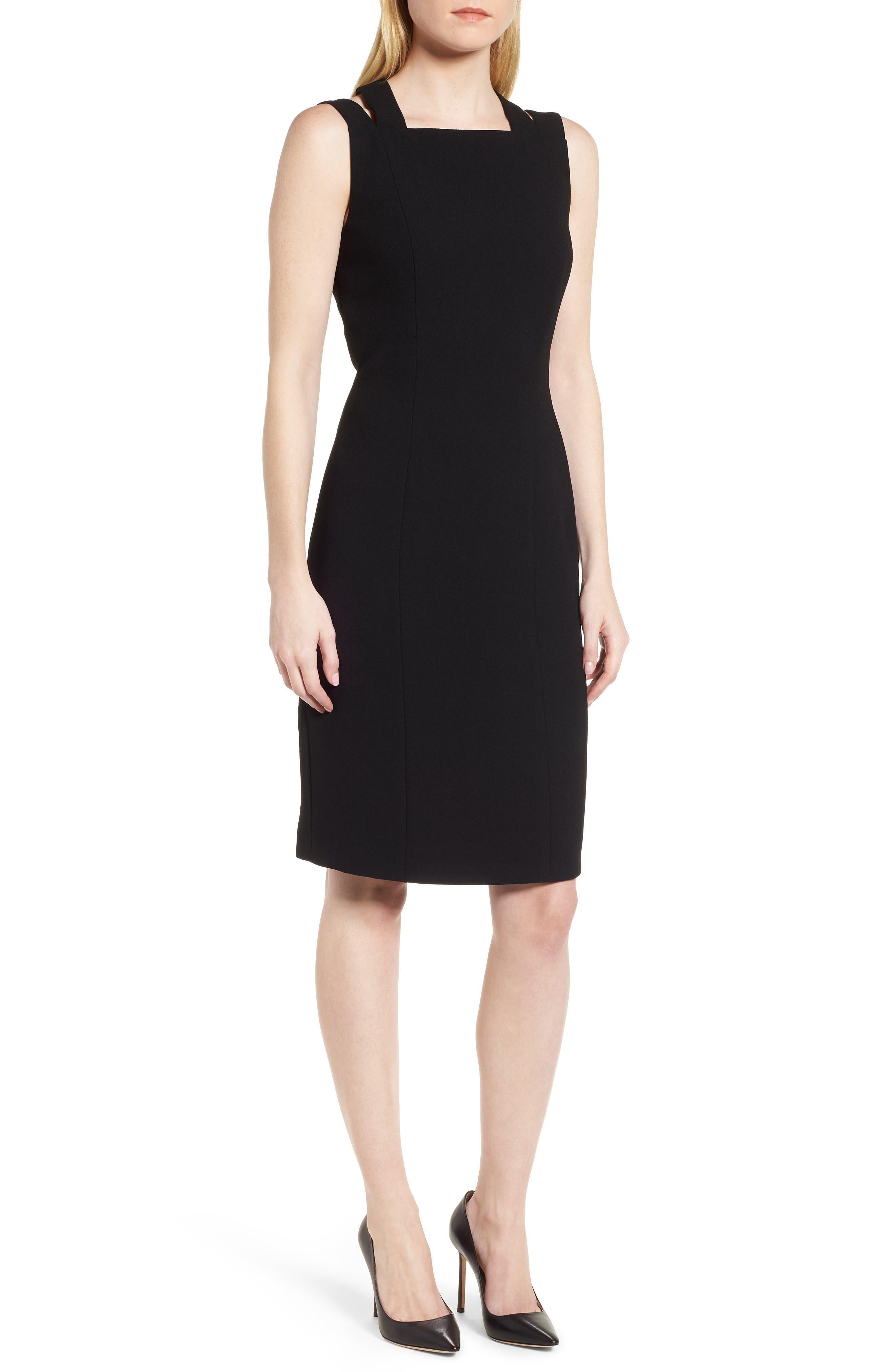 Daphima Compact Crepe Sheath Dress,                             Main thumbnail 1, color,