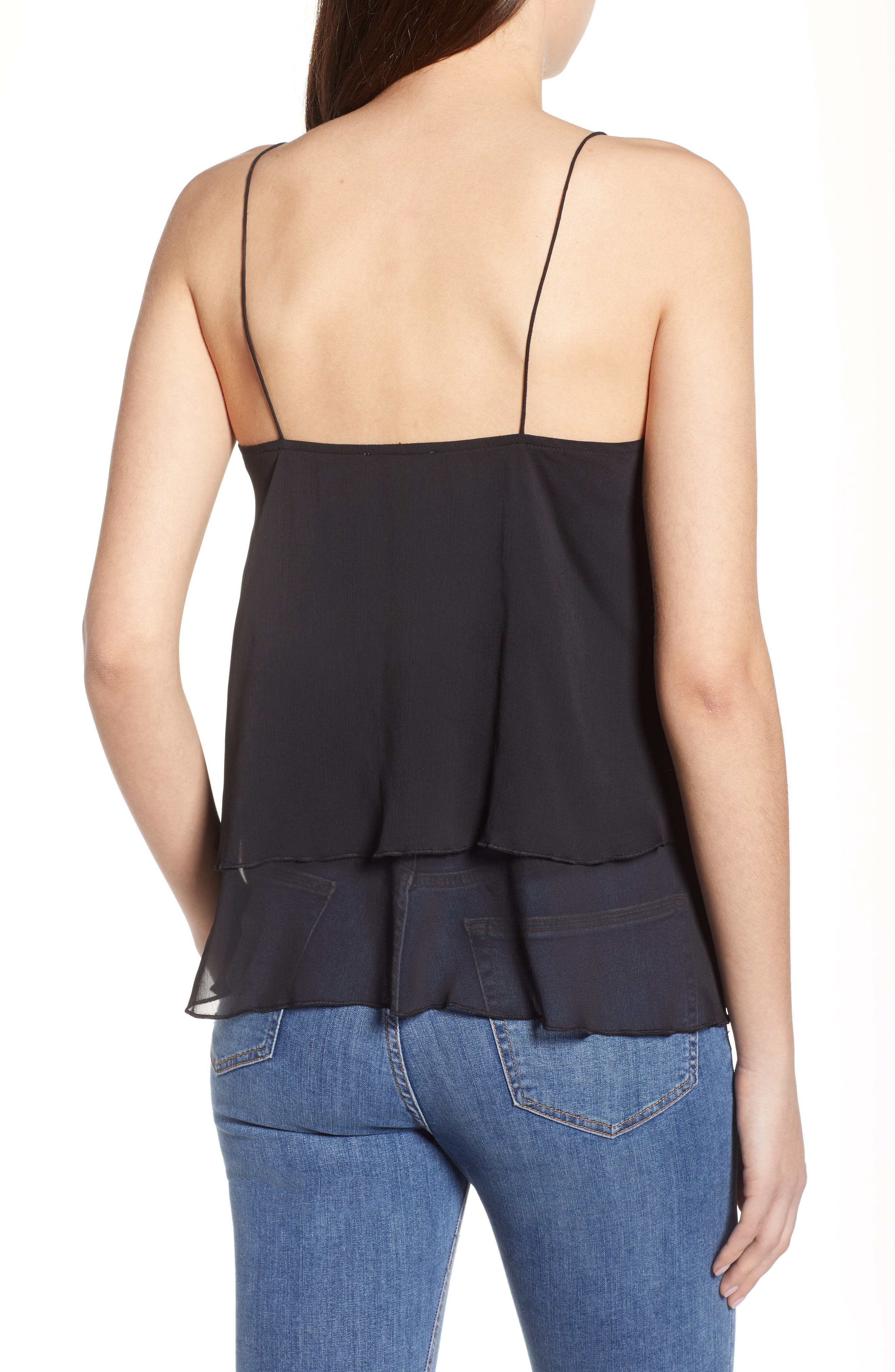 Tiered Chiffon Camisole,                             Alternate thumbnail 4, color,