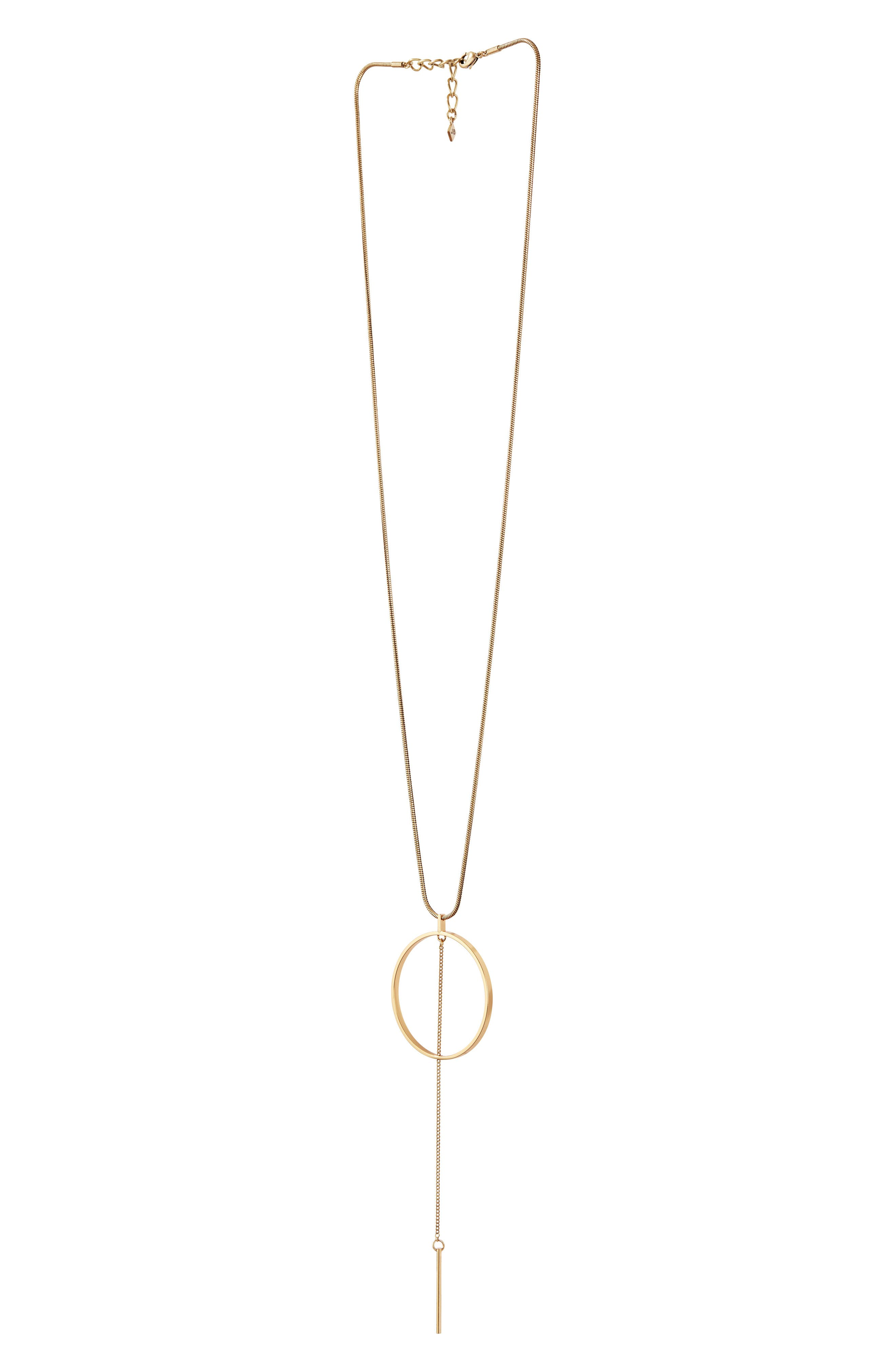 Rhine Pendant Necklace,                             Alternate thumbnail 5, color,                             GOLD