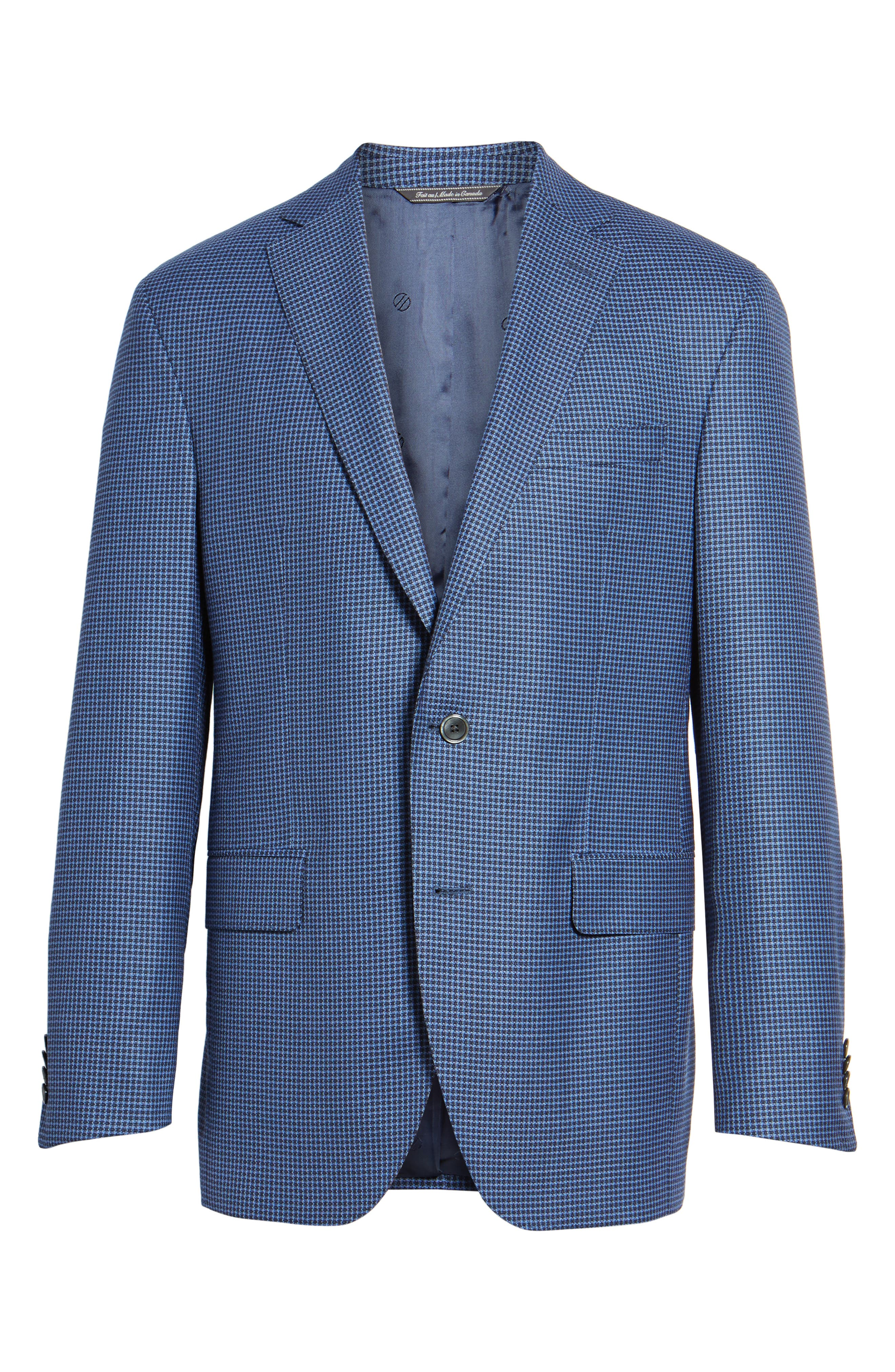Arnold Classic Fit Check Wool Sport Coat,                             Alternate thumbnail 5, color,