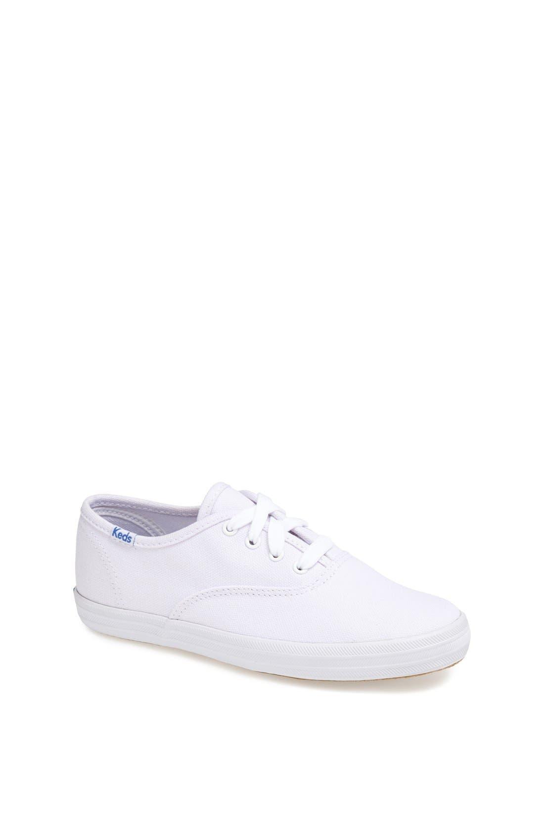 'Champion' Canvas Sneaker,                             Main thumbnail 1, color,                             NEW WHITE