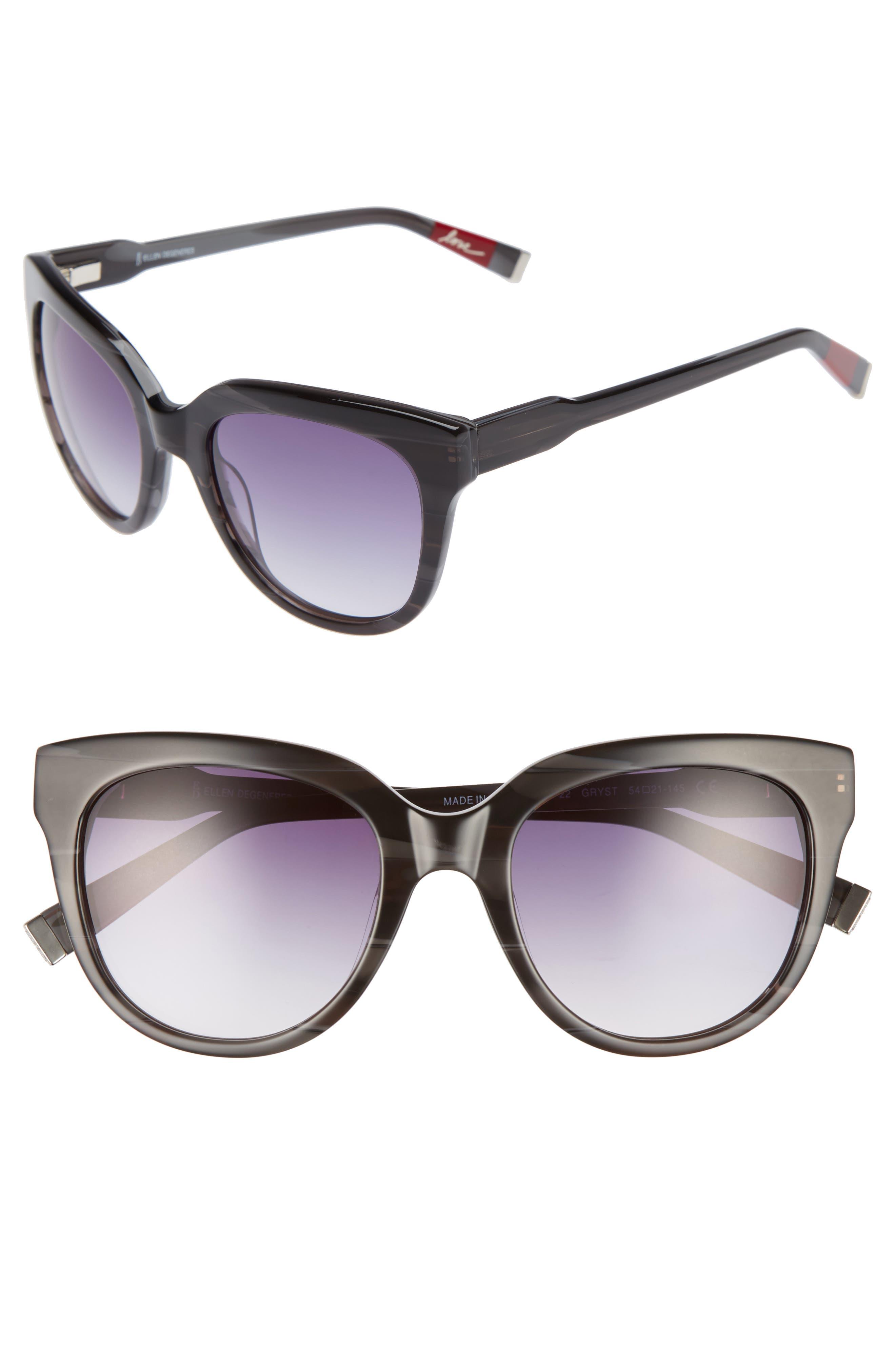 54mm Oval Sunglasses,                         Main,                         color, GREY STRIPE