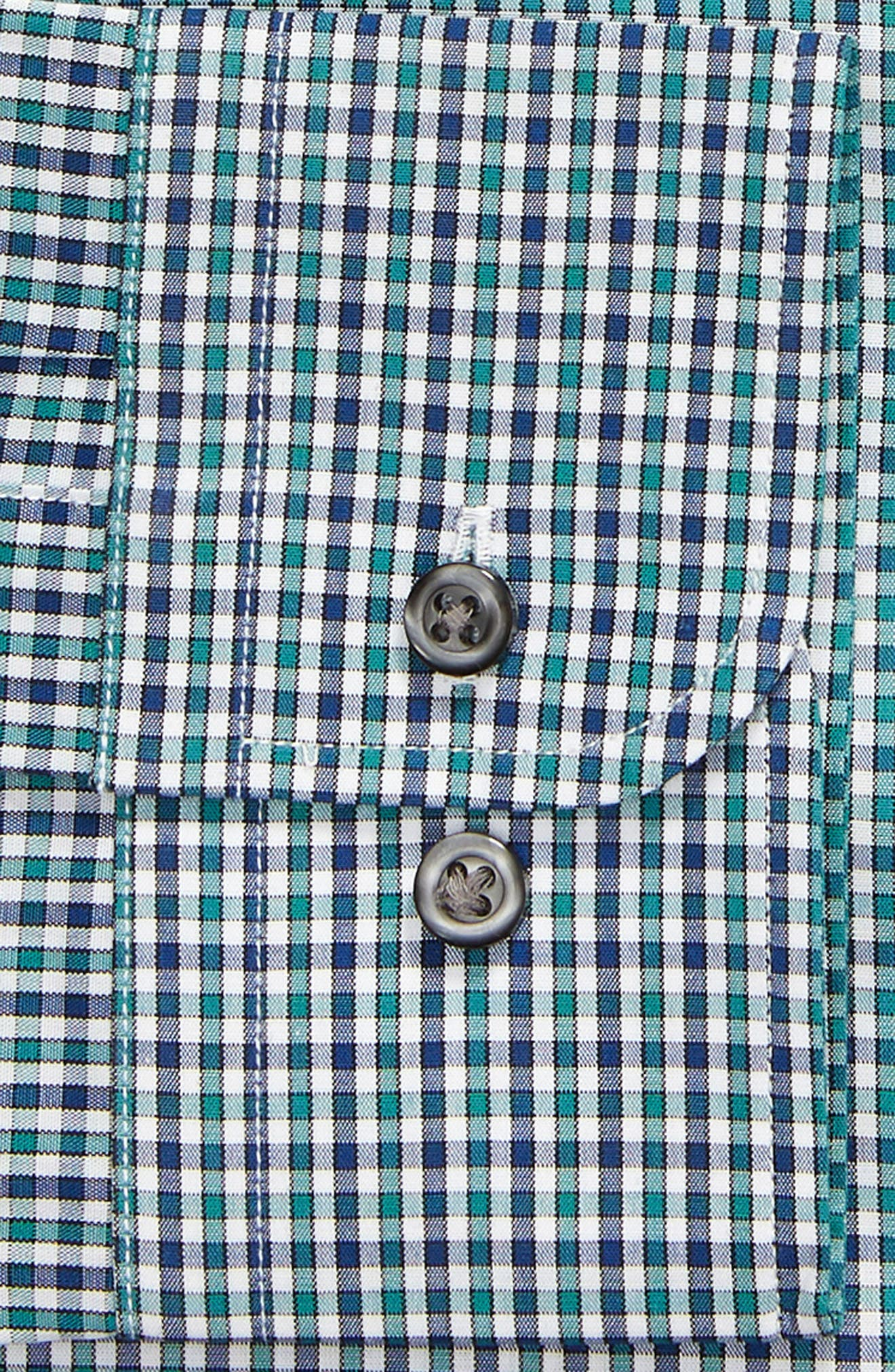 Trim Fit Check Dress Shirt,                             Alternate thumbnail 6, color,                             301